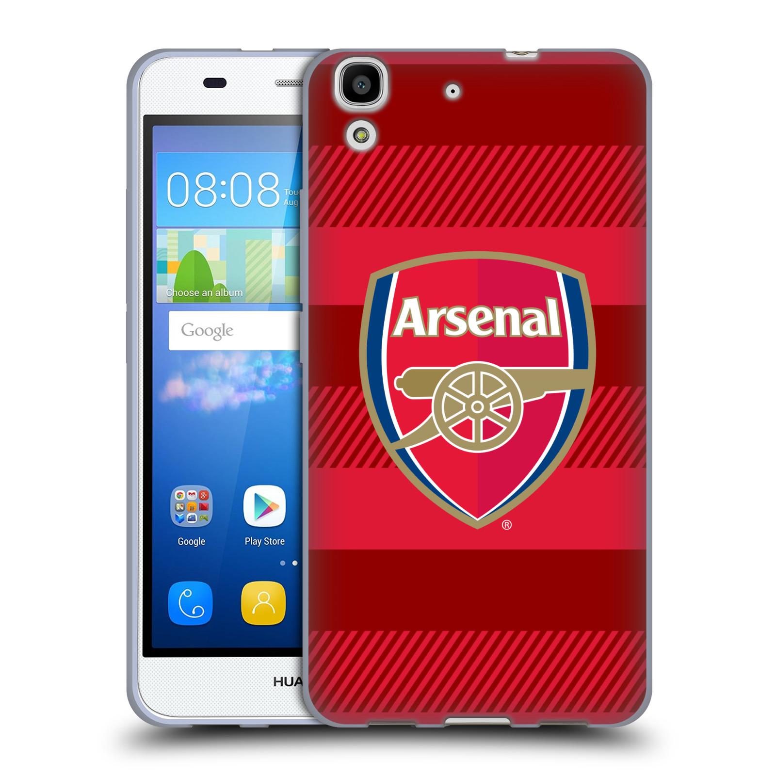 Silikonové pouzdro na mobil Huawei Y6 - Head Case - Arsenal FC - Logo s pruhy