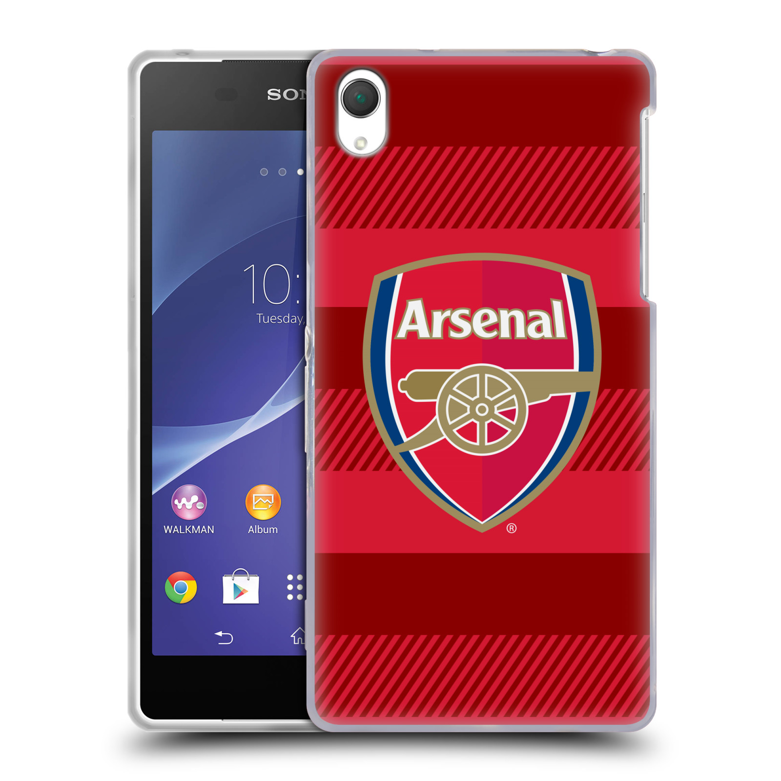 Silikonové pouzdro na mobil Sony Xperia Z2 D6503 - Head Case - Arsenal FC - Logo s pruhy