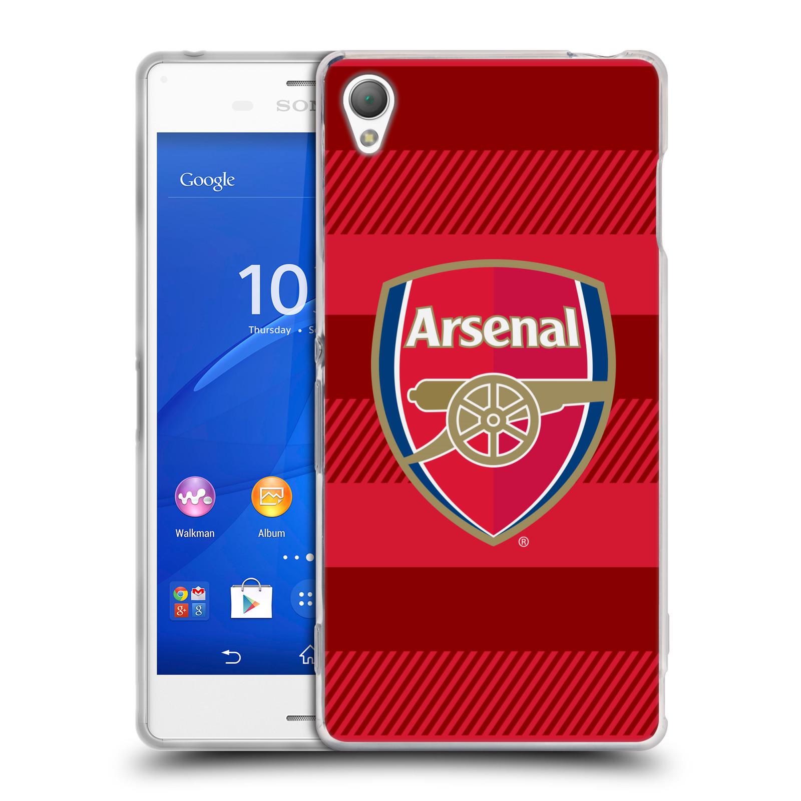 Silikonové pouzdro na mobil Sony Xperia Z3 D6603 - Head Case - Arsenal FC - Logo s pruhy