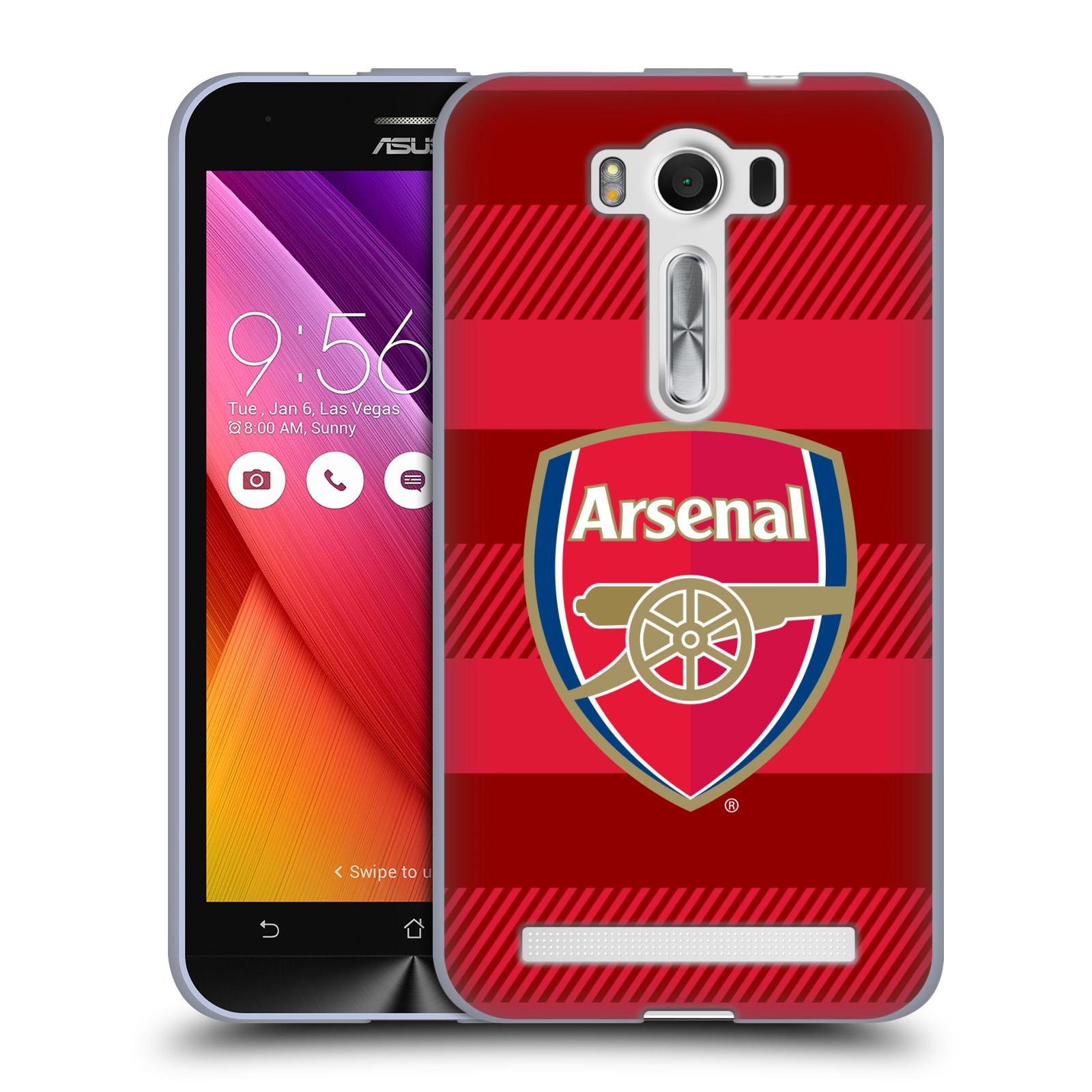 Silikonové pouzdro na mobil Asus ZenFone 2 Laser ZE500KL - Head Case - Arsenal FC - Logo s pruhy