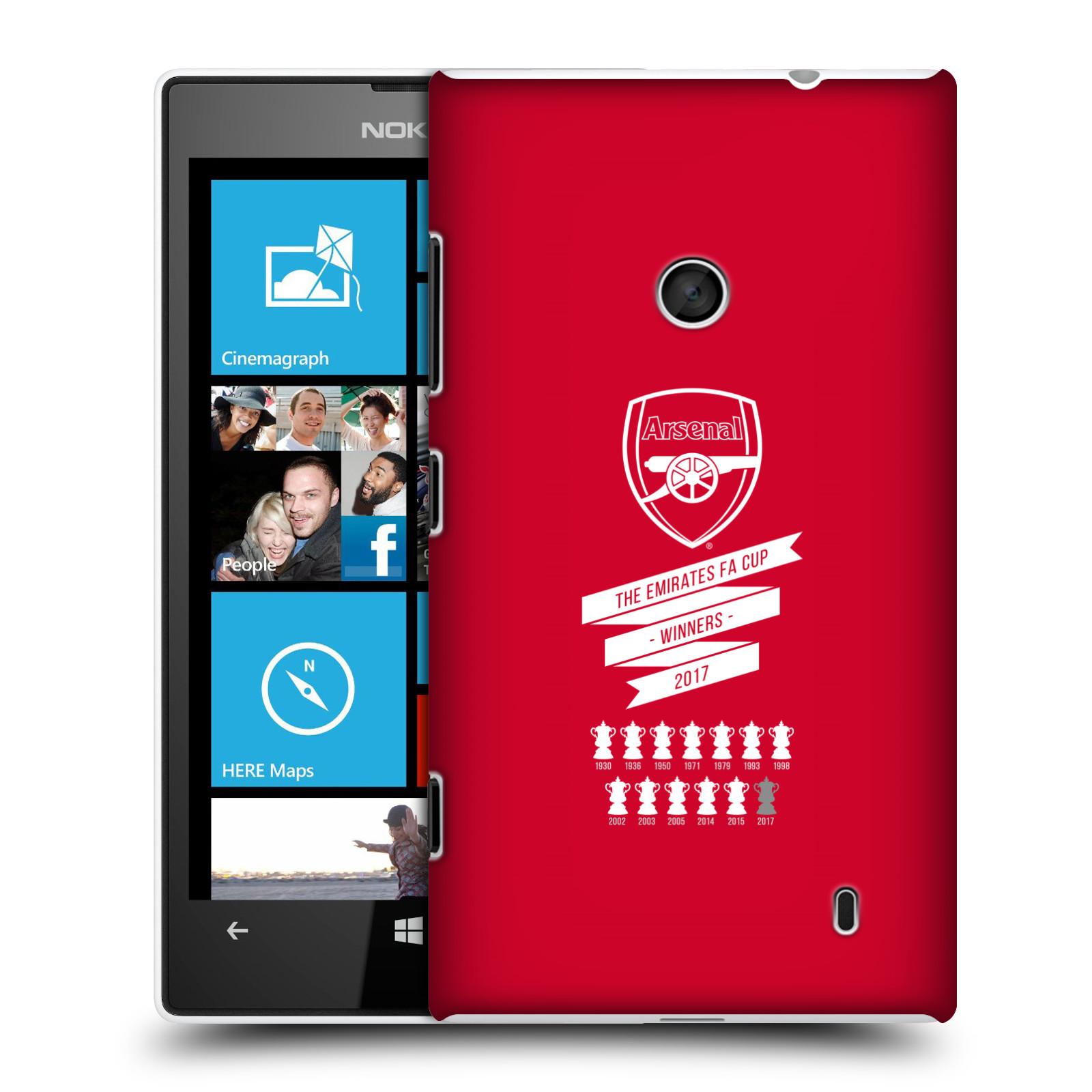 Plastové pouzdro na mobil Nokia Lumia 520 - Head Case - Arsenal FC - 13 Wins