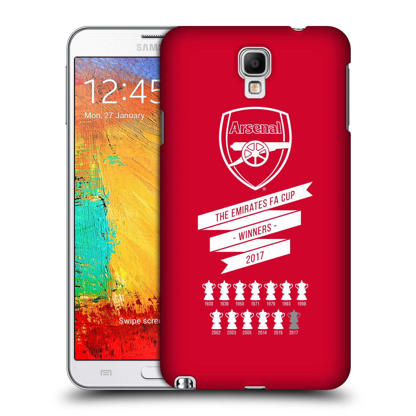 Plastové pouzdro na mobil Samsung Galaxy Note 3 Neo - Head Case - Arsenal FC - 13 Wins