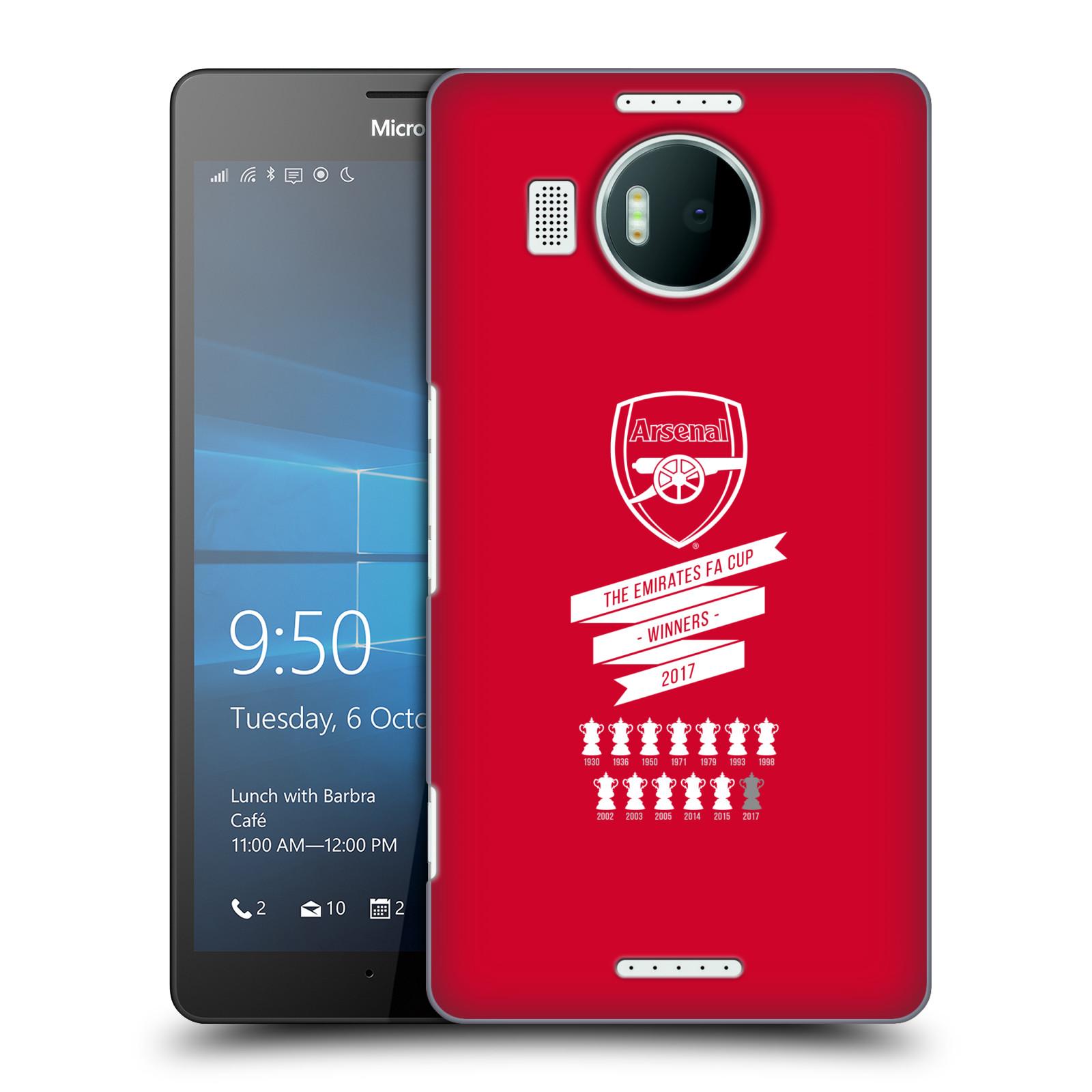 Plastové pouzdro na mobil Microsoft Lumia 950 XL - Head Case - Arsenal FC - 13 Wins