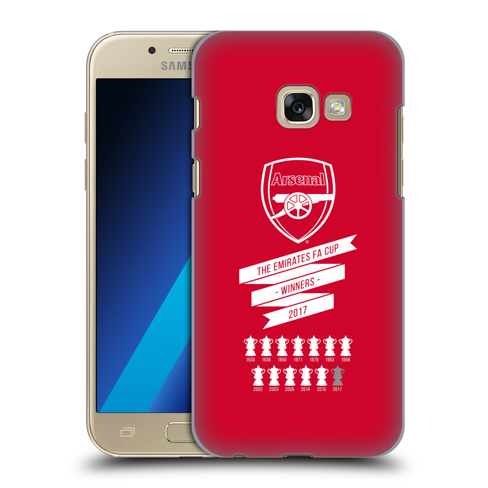 Plastové pouzdro na mobil Samsung Galaxy A3 (2017) - Head Case - Arsenal FC - 13 Wins