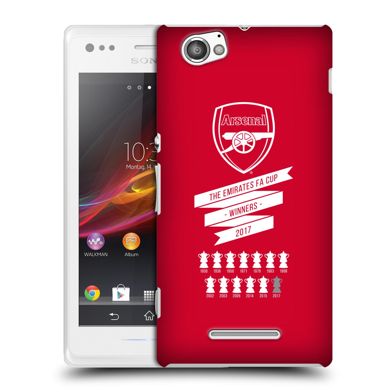 Plastové pouzdro na mobil Sony Xperia M C1905 - Head Case - Arsenal FC - 13 Wins