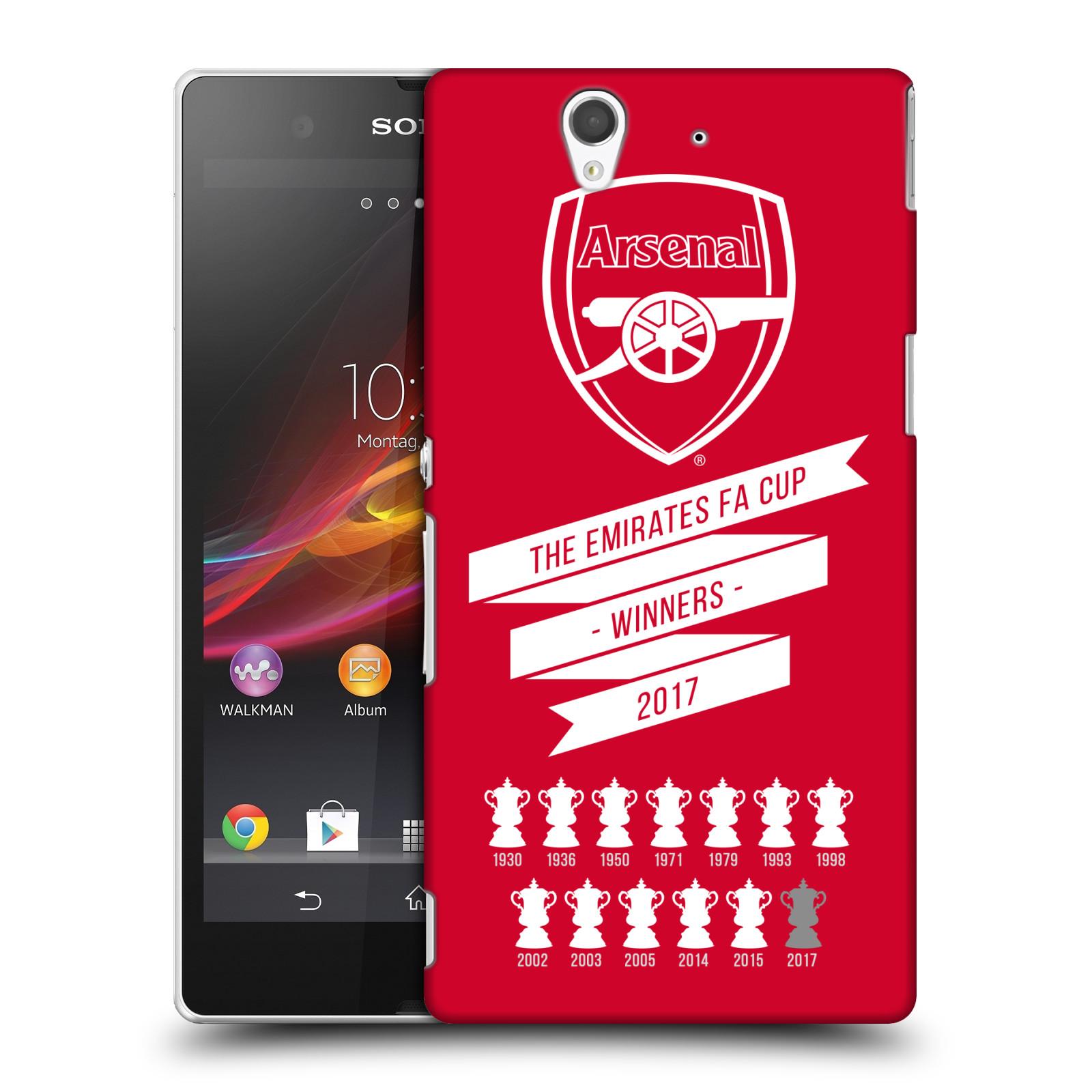 Plastové pouzdro na mobil Sony Xperia Z C6603 - Head Case - Arsenal FC - 13 Wins
