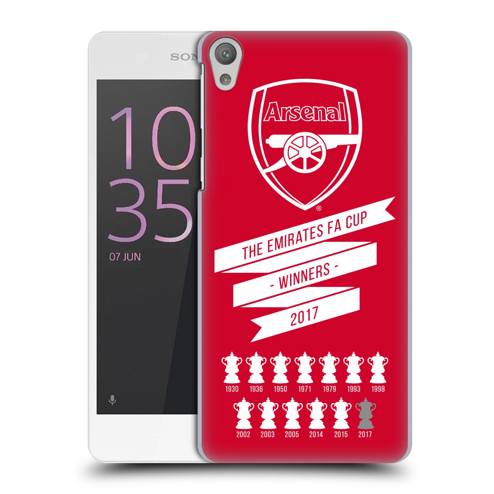 Plastové pouzdro na mobil Sony Xperia E5 - Head Case - Arsenal FC - 13 Wins