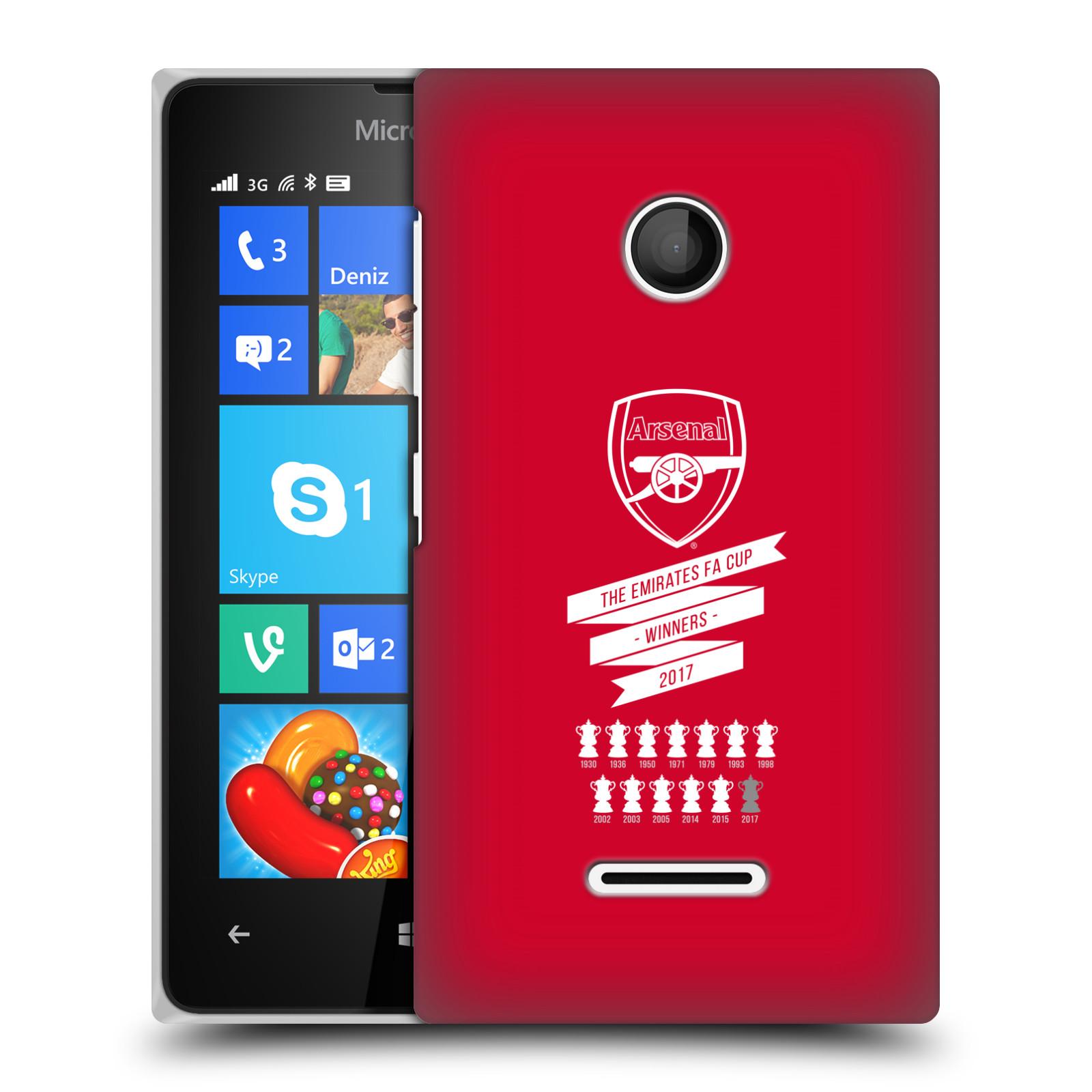 Plastové pouzdro na mobil Microsoft Lumia 435 - Head Case - Arsenal FC - 13 Wins