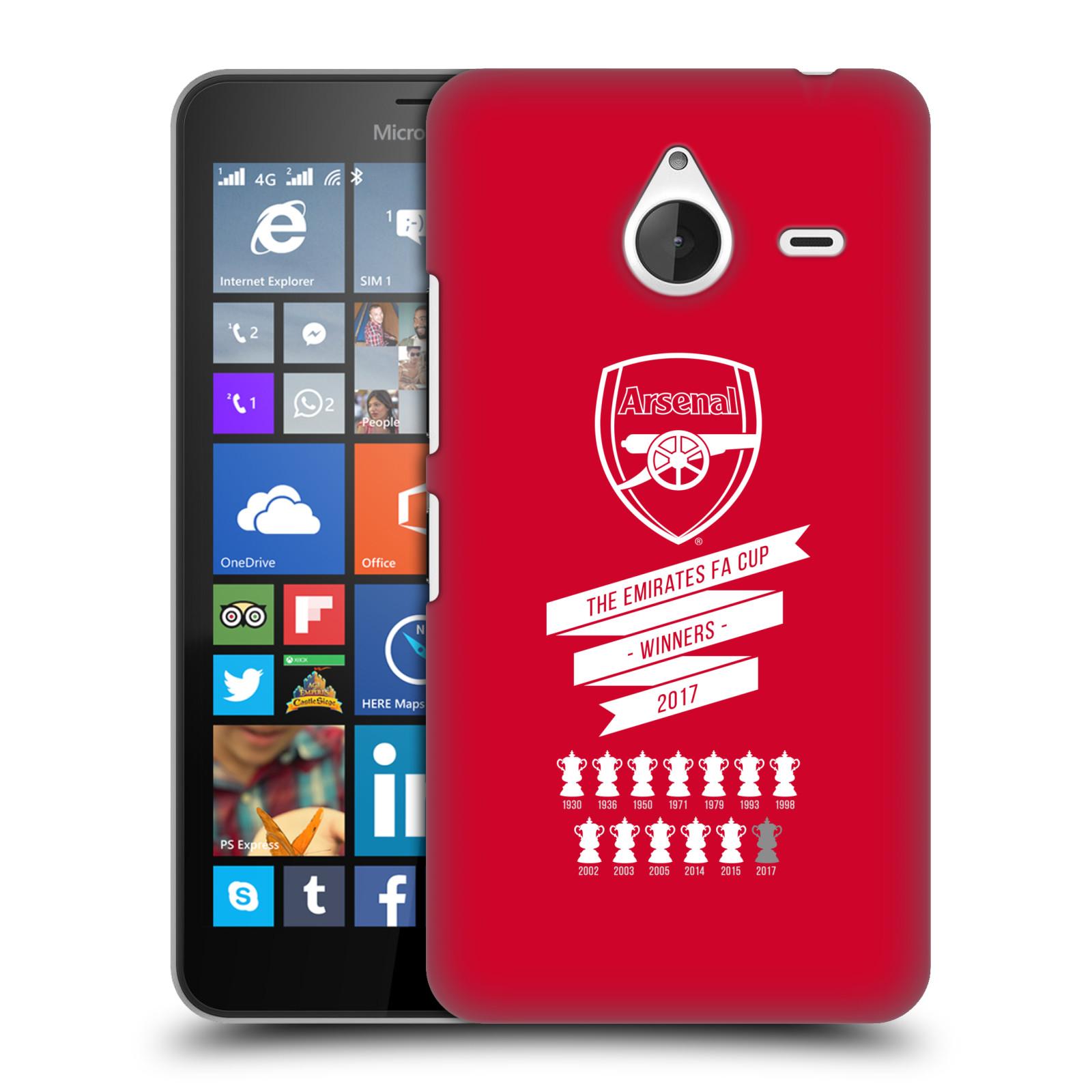 Plastové pouzdro na mobil Microsoft Lumia 640 XL - Head Case - Arsenal FC - 13 Wins