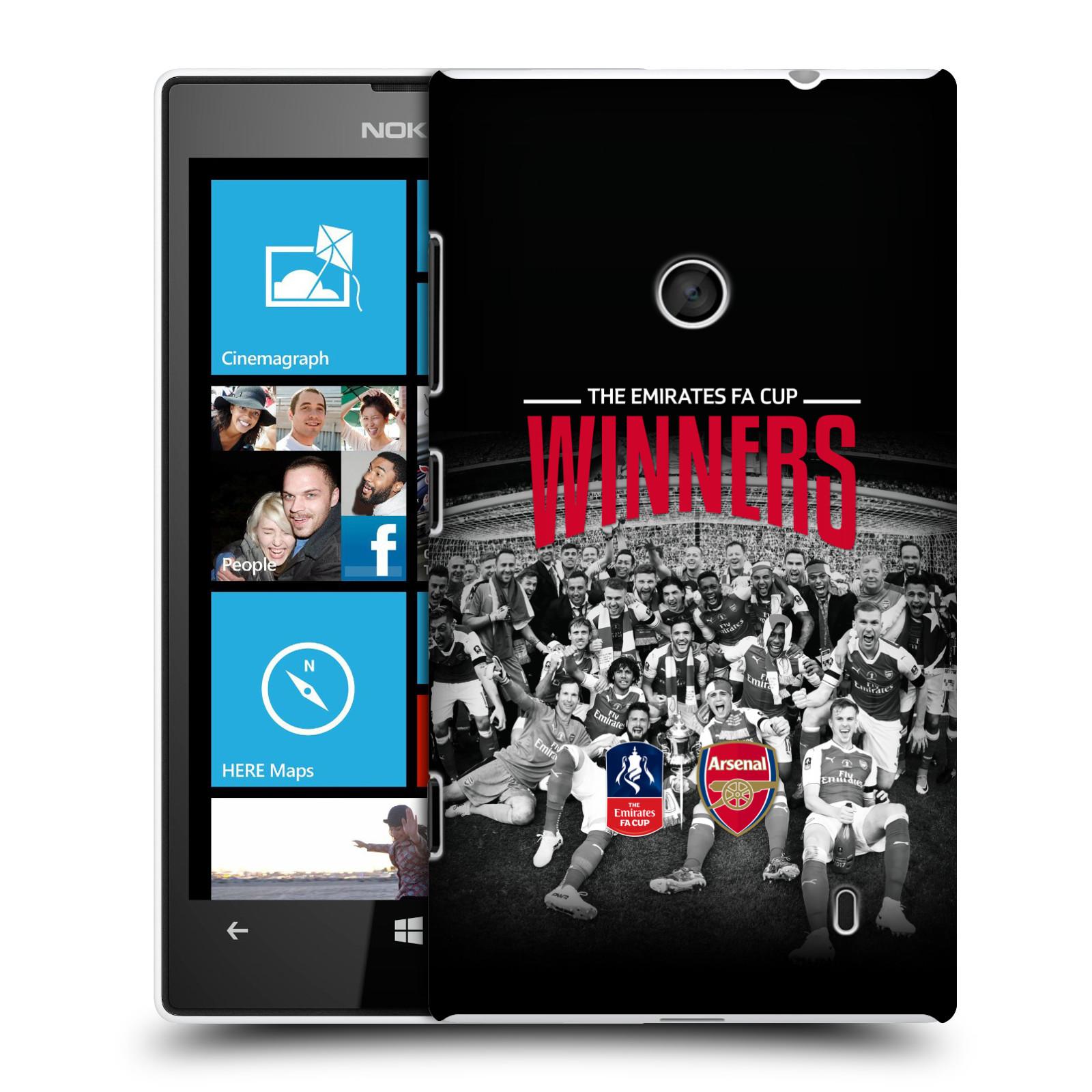 Plastové pouzdro na mobil Nokia Lumia 520 - Head Case - Arsenal FC - Celebration
