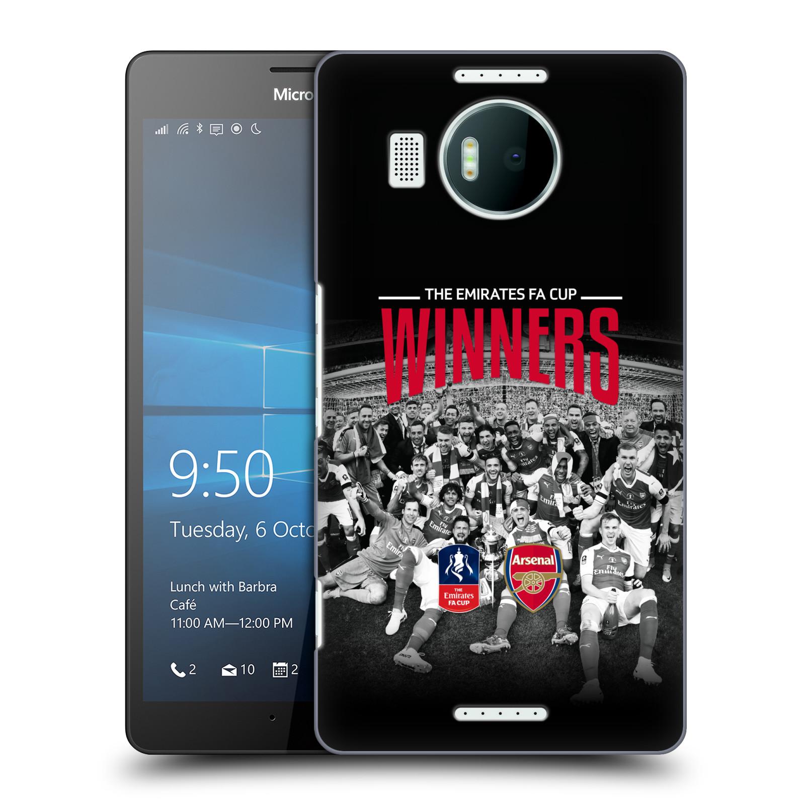 Plastové pouzdro na mobil Microsoft Lumia 950 XL - Head Case - Arsenal FC - Celebration