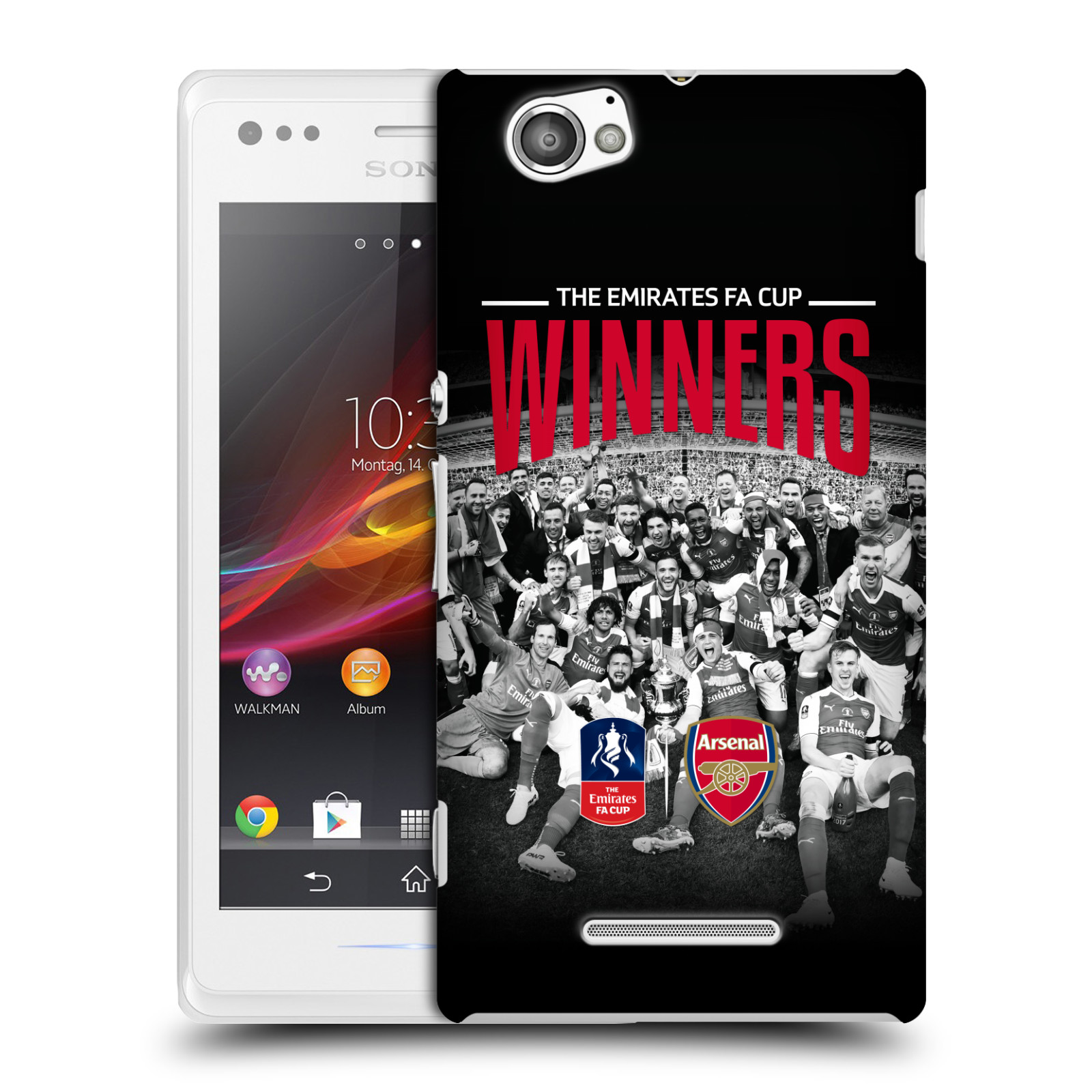 Plastové pouzdro na mobil Sony Xperia M C1905 - Head Case - Arsenal FC - Celebration