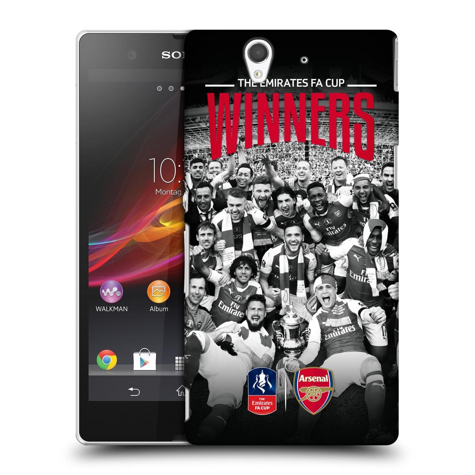 Plastové pouzdro na mobil Sony Xperia Z C6603 - Head Case - Arsenal FC - Celebration