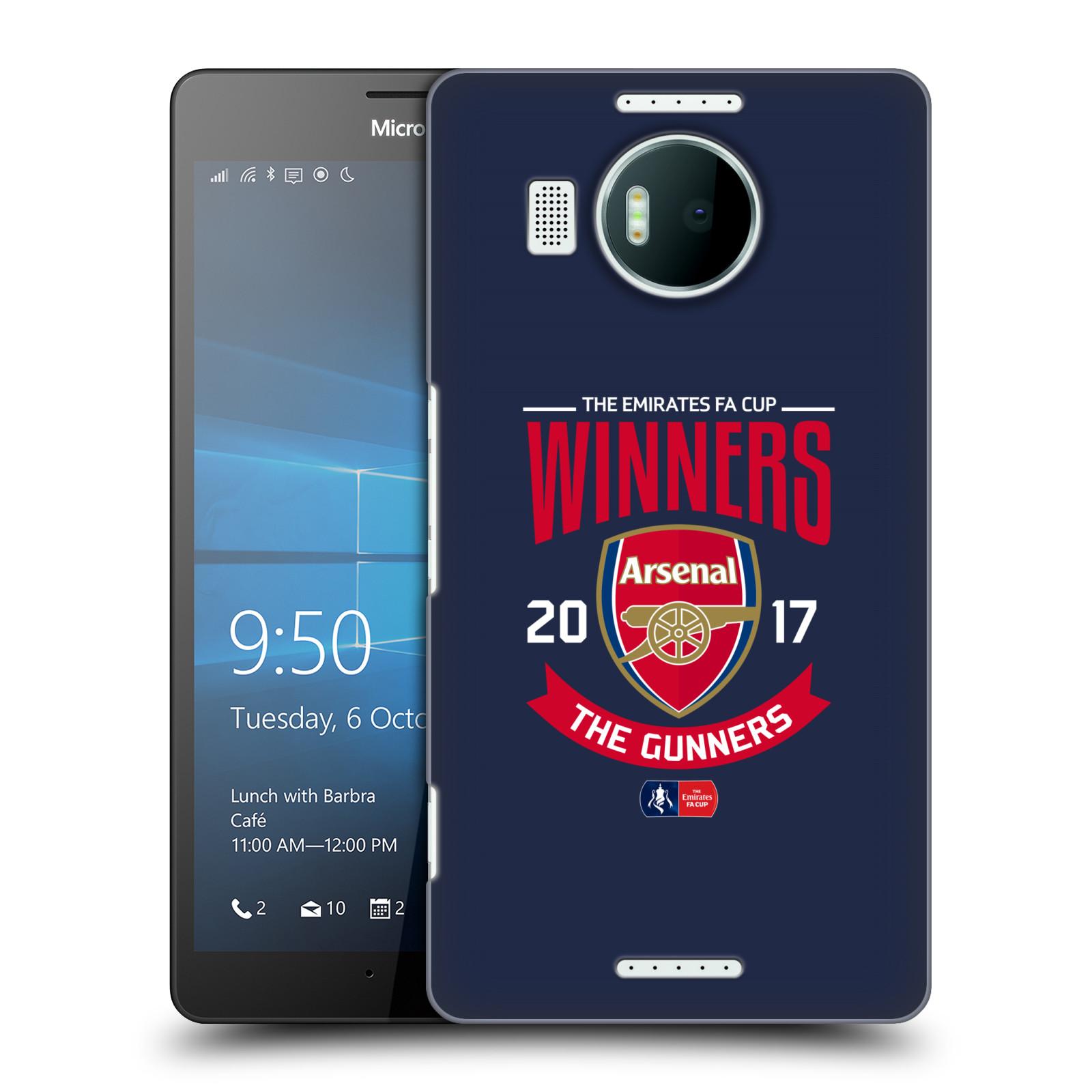 Plastové pouzdro na mobil Microsoft Lumia 950 XL - Head Case - Arsenal FC - Crest