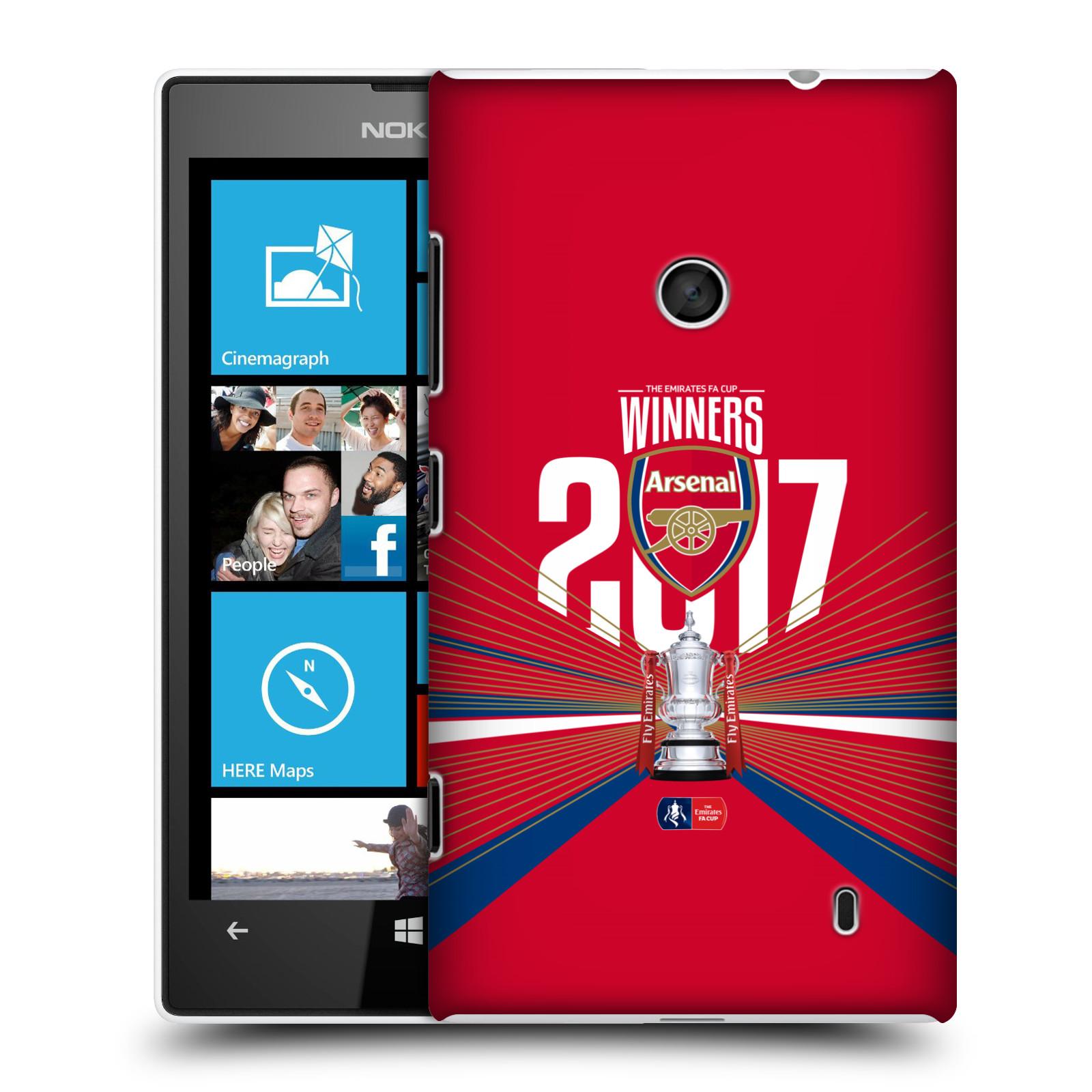 Plastové pouzdro na mobil Nokia Lumia 520 - Head Case - Arsenal FC - Trophy