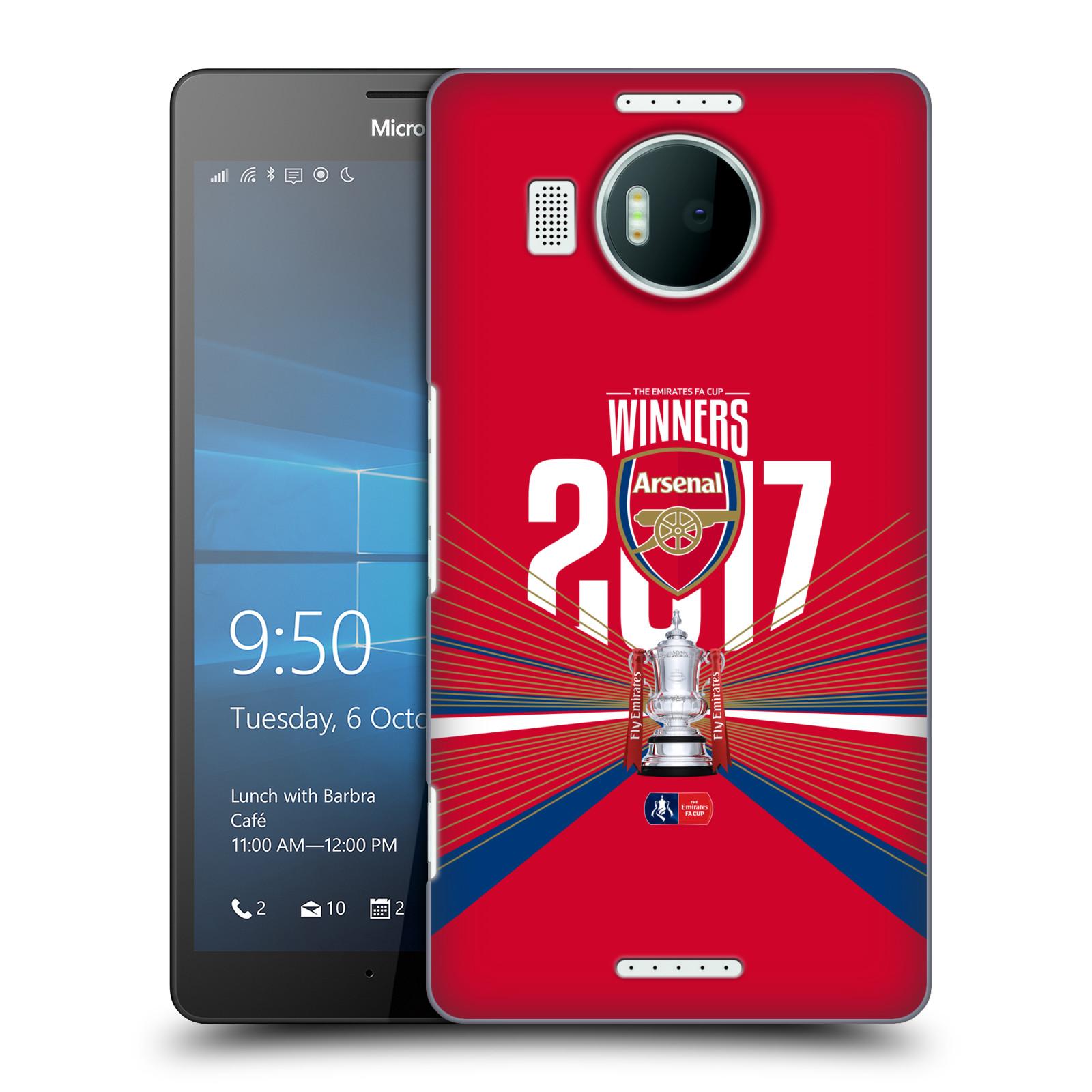Plastové pouzdro na mobil Microsoft Lumia 950 XL - Head Case - Arsenal FC - Trophy