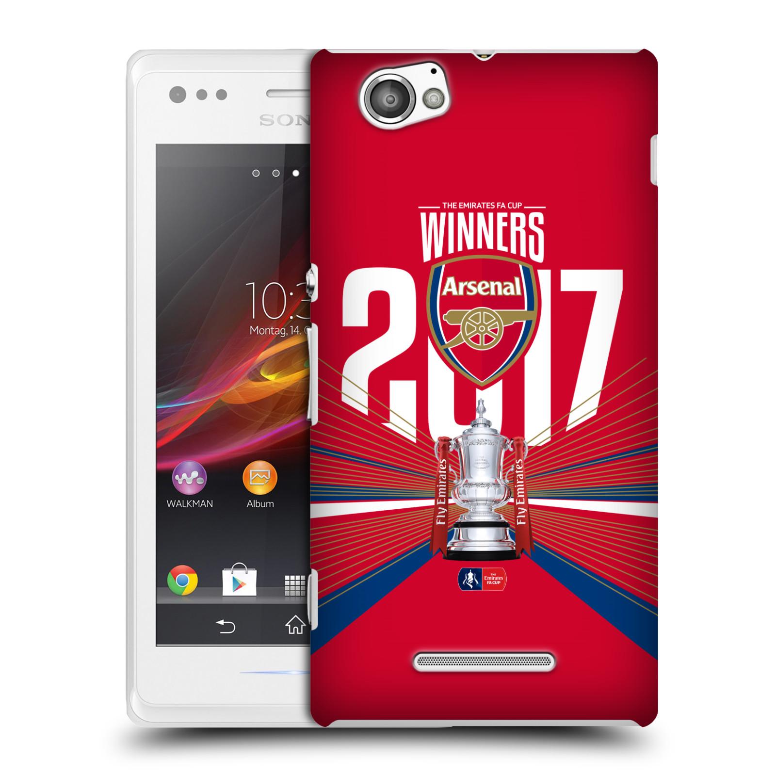 Plastové pouzdro na mobil Sony Xperia M C1905 - Head Case - Arsenal FC - Trophy