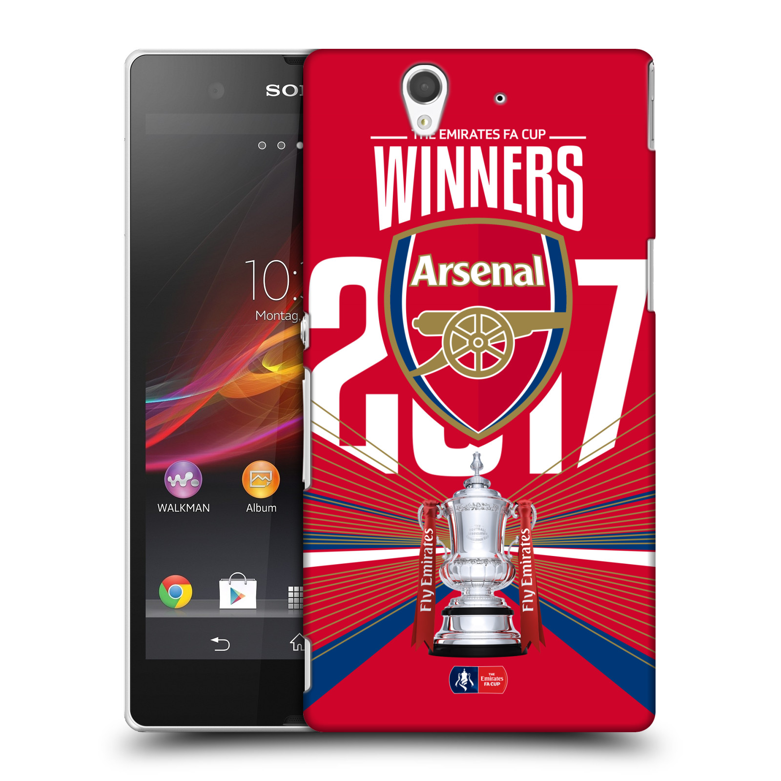 Plastové pouzdro na mobil Sony Xperia Z C6603 - Head Case - Arsenal FC - Trophy