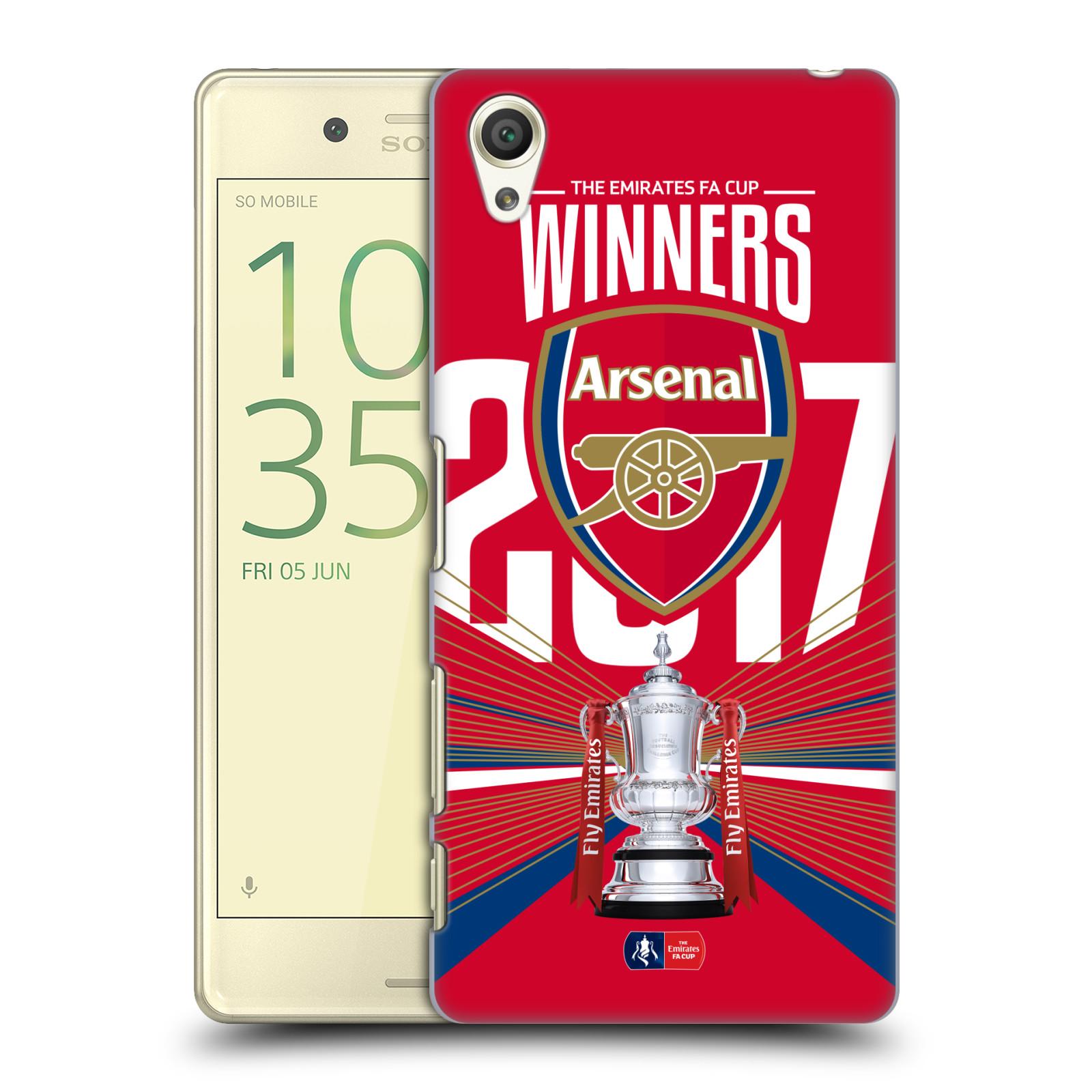 Plastové pouzdro na mobil Sony Xperia X - Head Case - Arsenal FC - Trophy