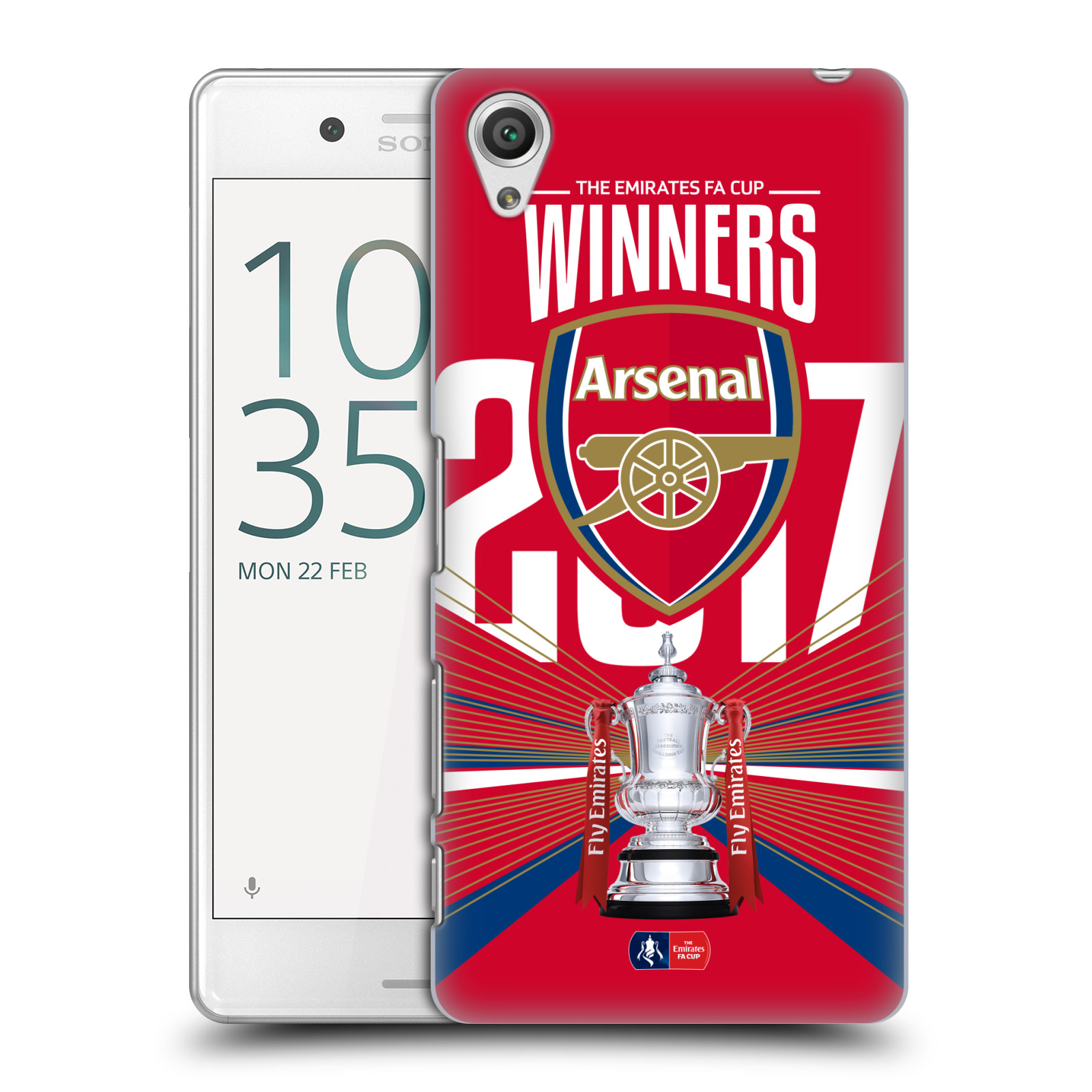 Plastové pouzdro na mobil Sony Xperia X Performance - Head Case - Arsenal FC - Trophy