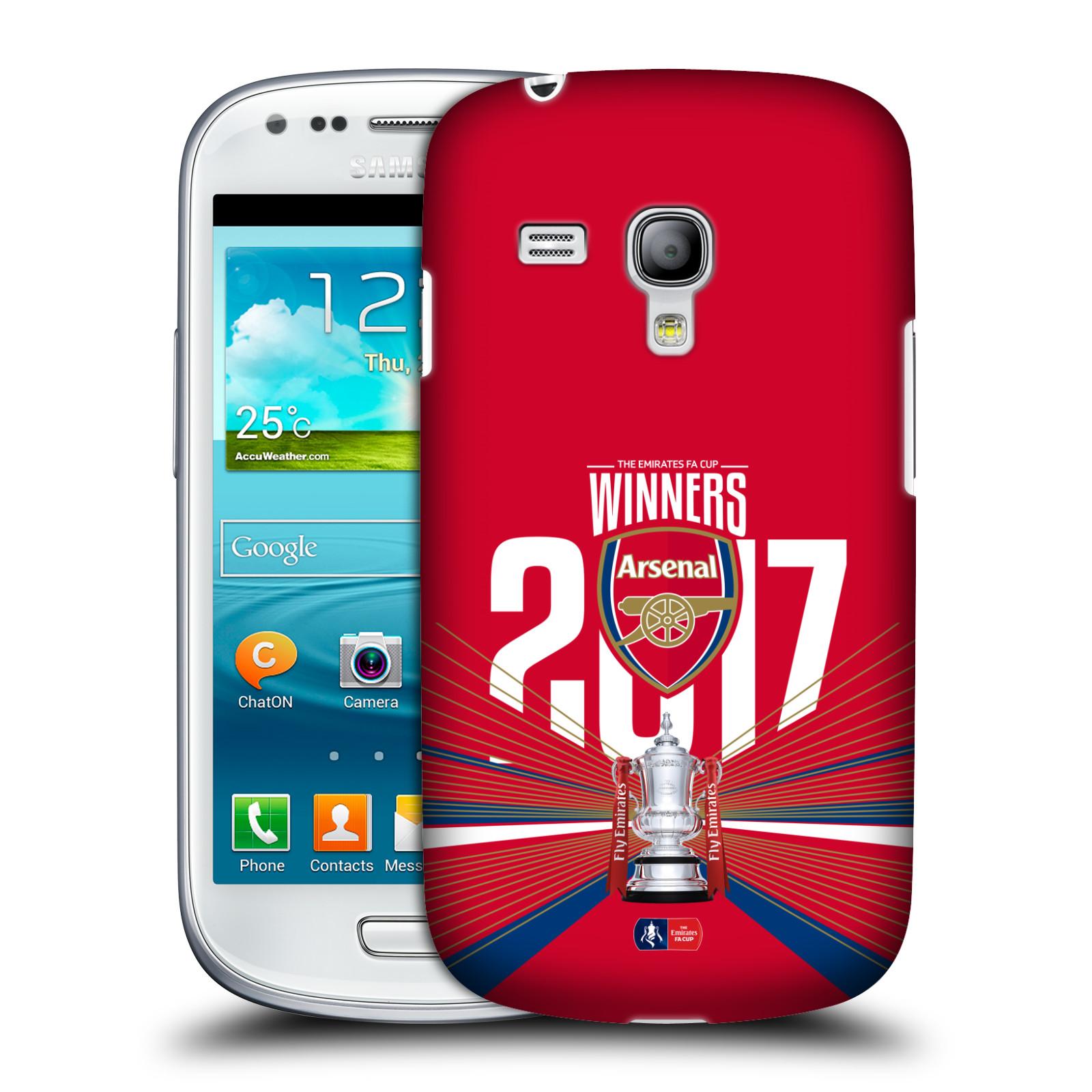 Silikonové pouzdro na mobil Samsung Galaxy S III Mini VE - Head Case - Arsenal FC - Trophy (Plastový kryt či obal na mobilní telefon s oficiálním licencovaným motivem Arsenal FC - Trophy pro Samsung Galaxy S3 Mini VE GT-i8200)