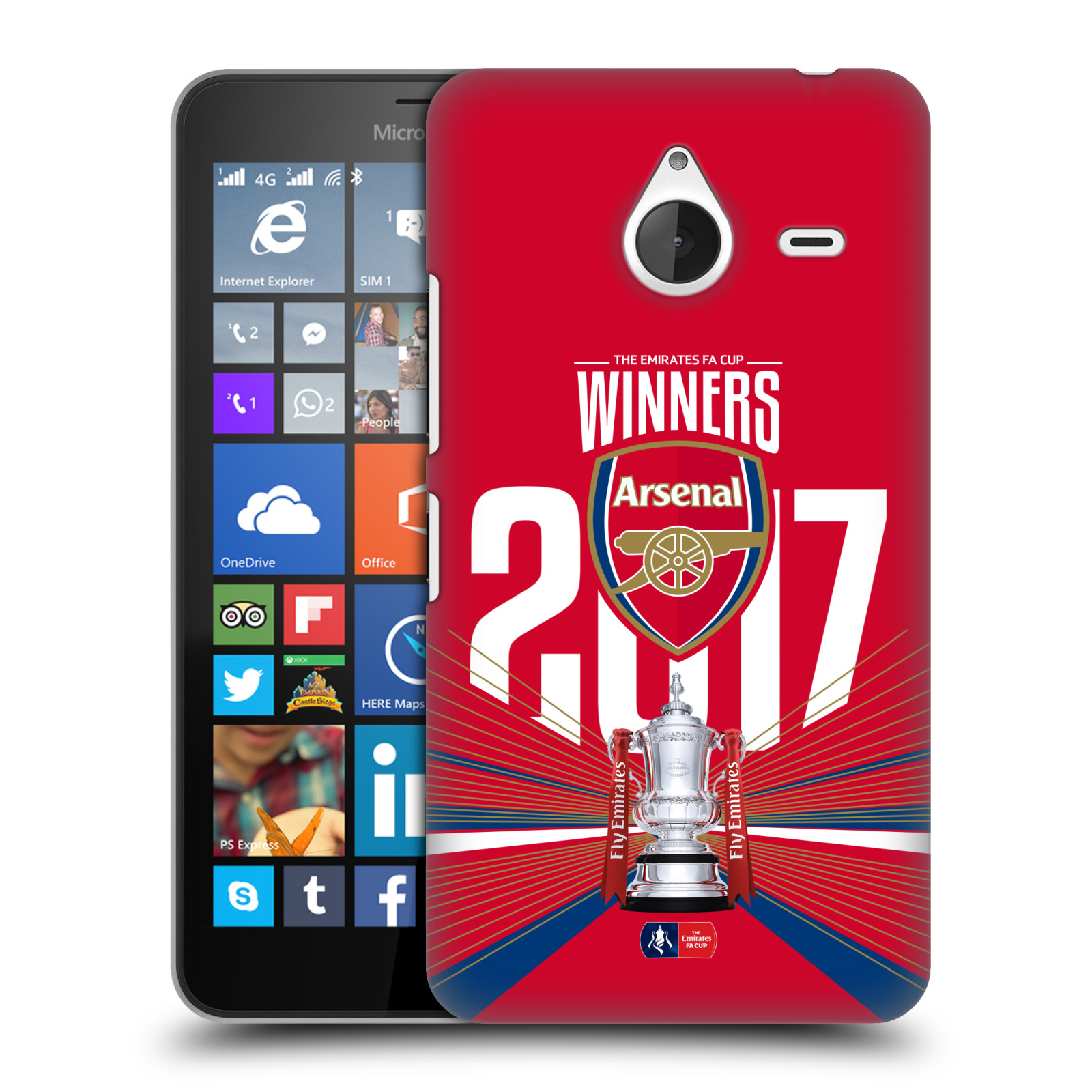 Plastové pouzdro na mobil Microsoft Lumia 640 XL - Head Case - Arsenal FC - Trophy