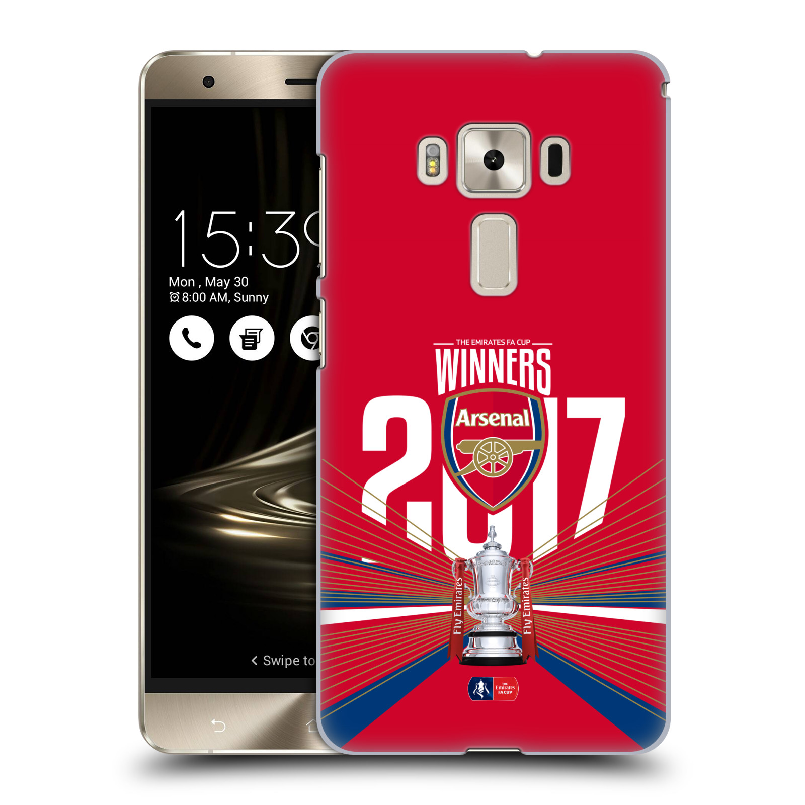 Plastové pouzdro na mobil Asus ZenFone 3 Deluxe ZS570KL - Head Case - Arsenal FC - Trophy