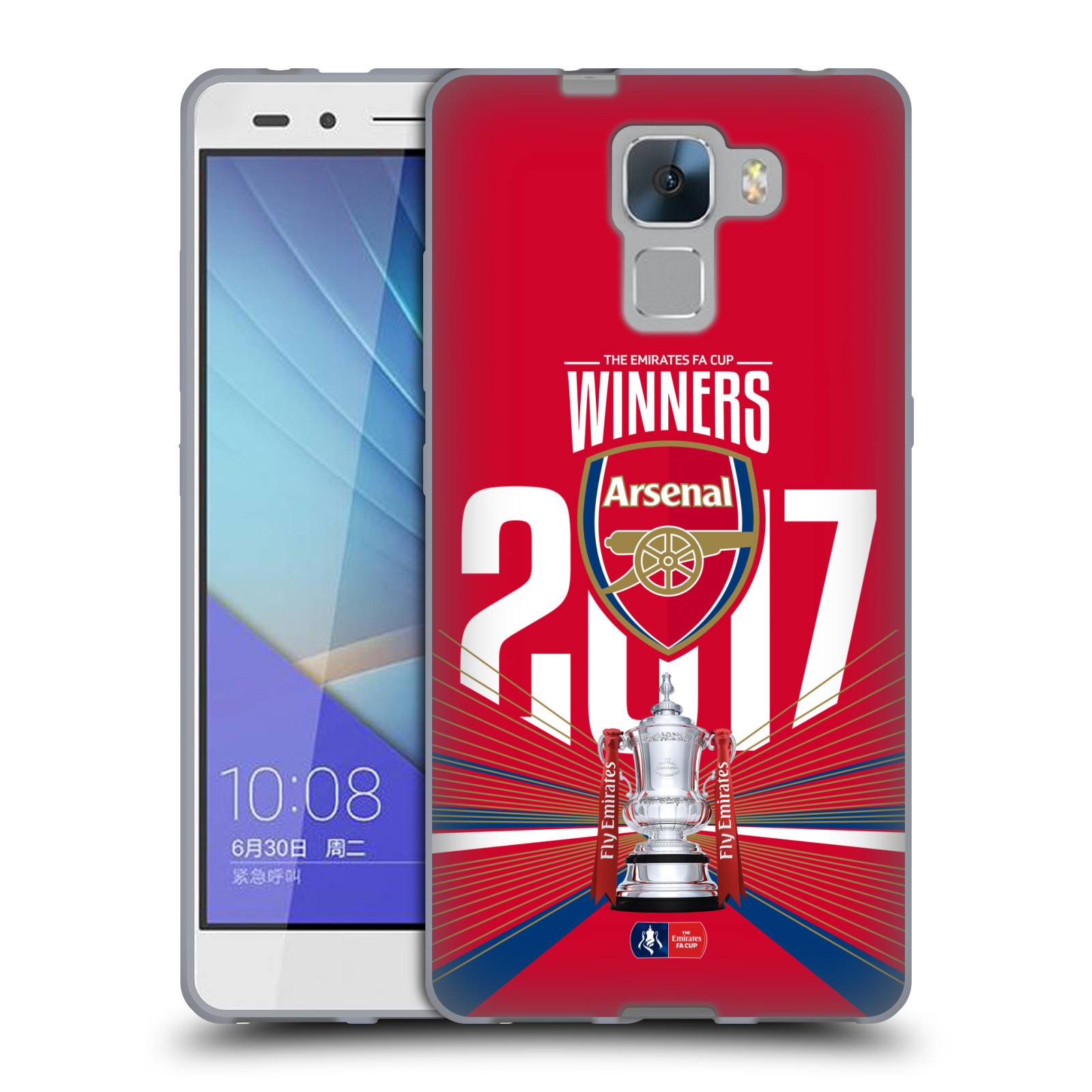 Silikonové pouzdro na mobil Honor 7 - Head Case - Arsenal FC - Trophy