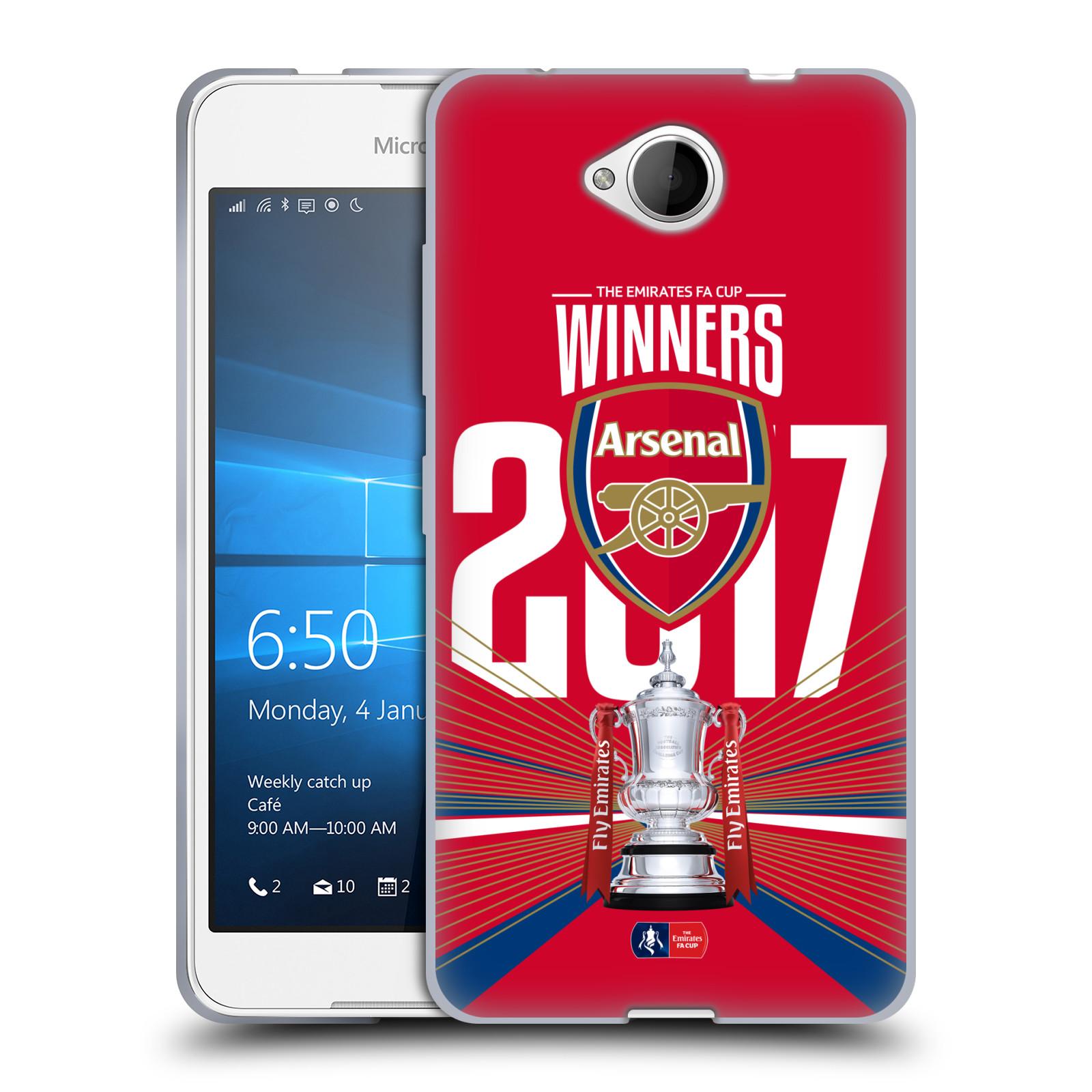 Silikonové pouzdro na mobil Microsoft Lumia 650 - Head Case - Arsenal FC - Trophy