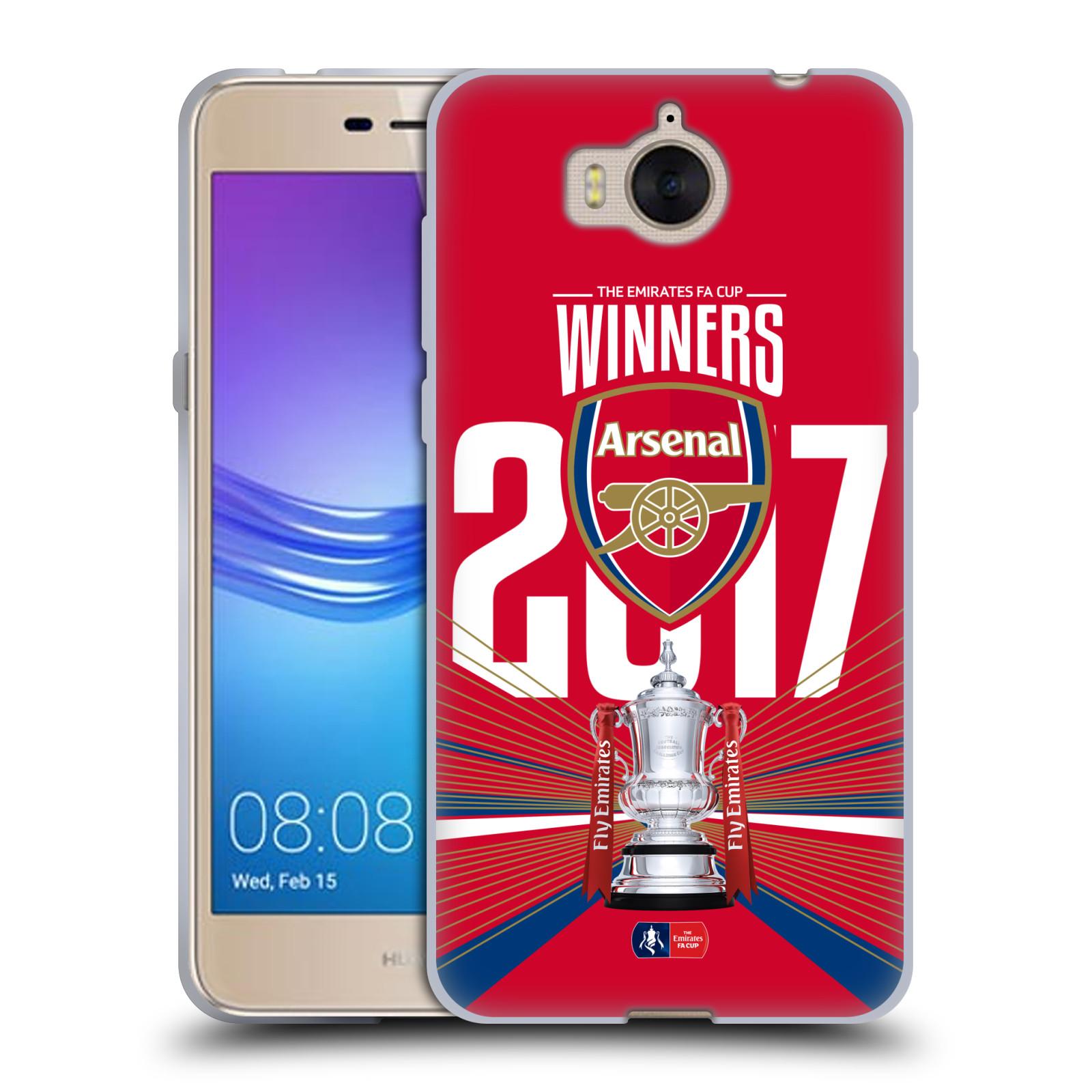 Silikonové pouzdro na mobil Huawei Y6 2017 - Head Case - Arsenal FC - Trophy