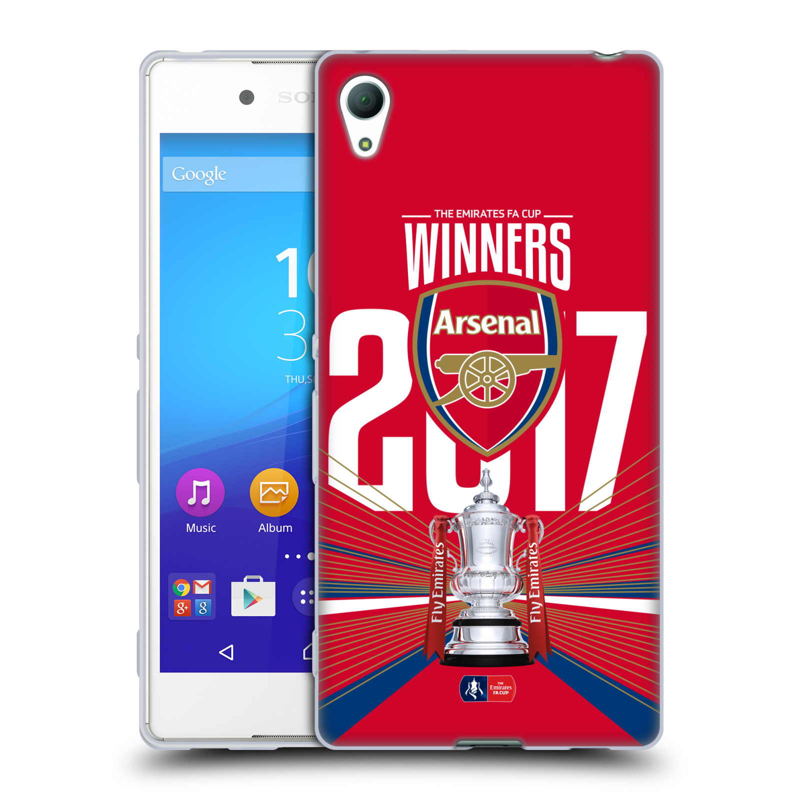 Silikonové pouzdro na mobil Sony Xperia Z3+ (Plus) - Head Case - Arsenal FC - Trophy