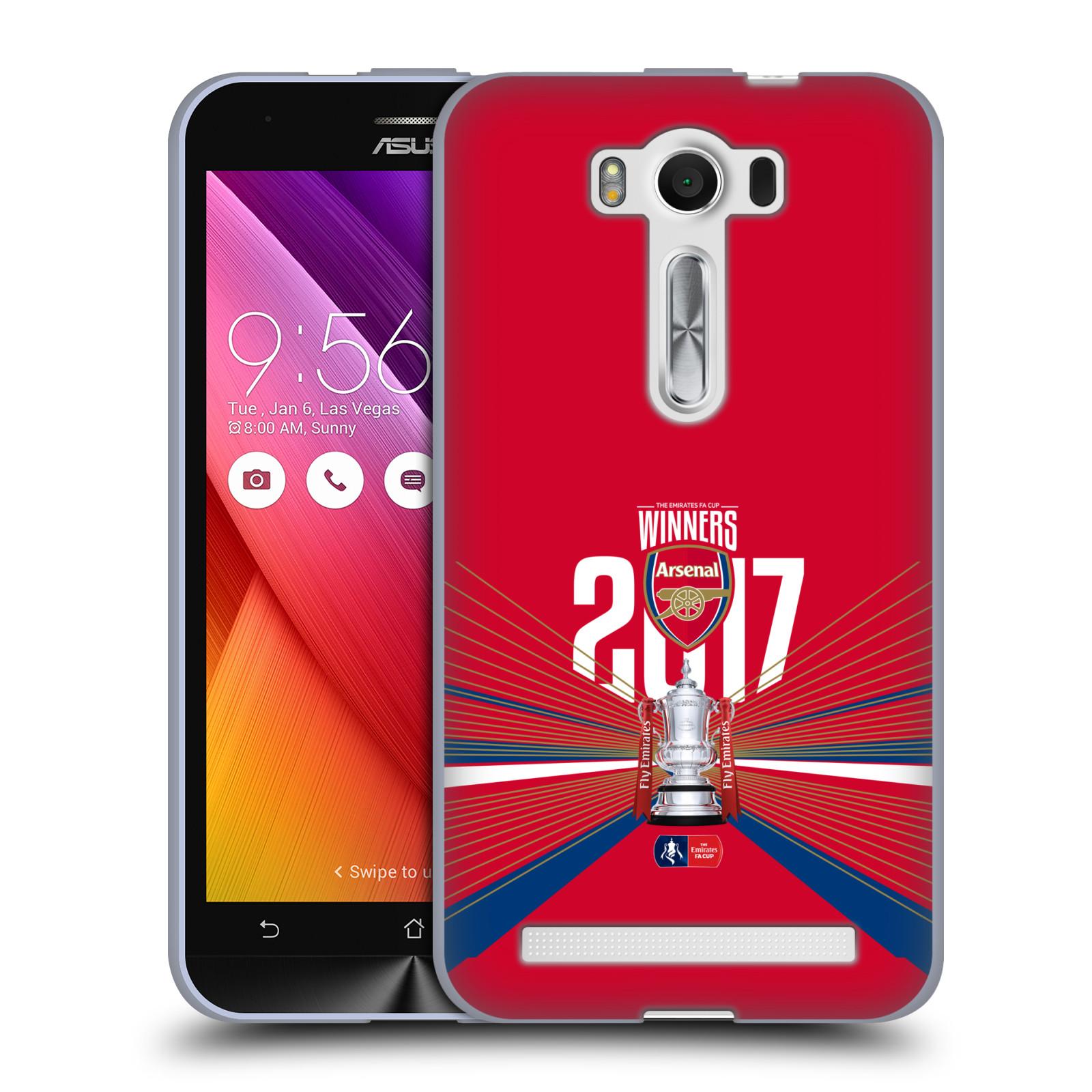 Silikonové pouzdro na mobil Asus ZenFone 2 Laser ZE500KL - Head Case - Arsenal FC - Trophy