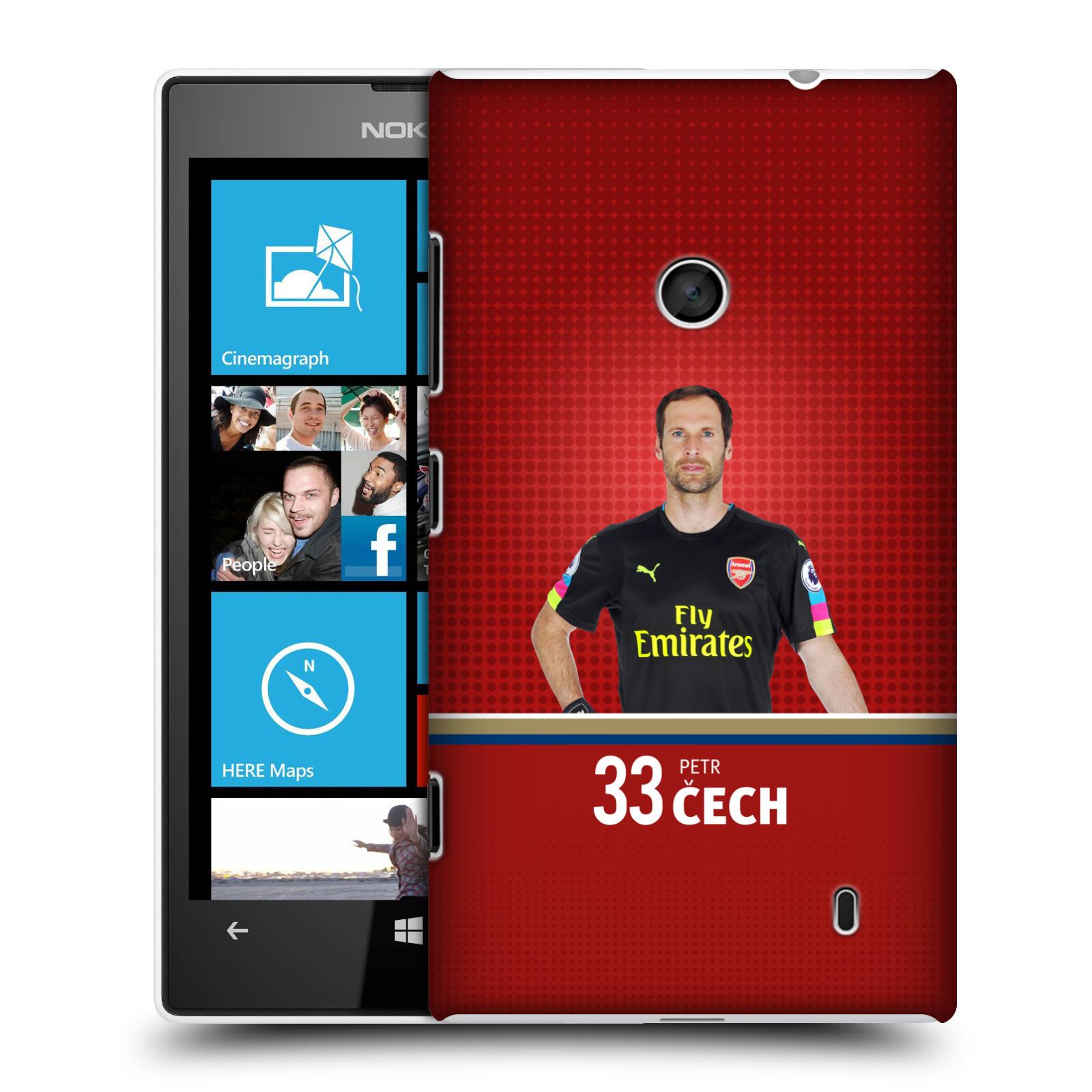 Plastové pouzdro na mobil Nokia Lumia 520 - Head Case - Arsenal FC - Petr Čech