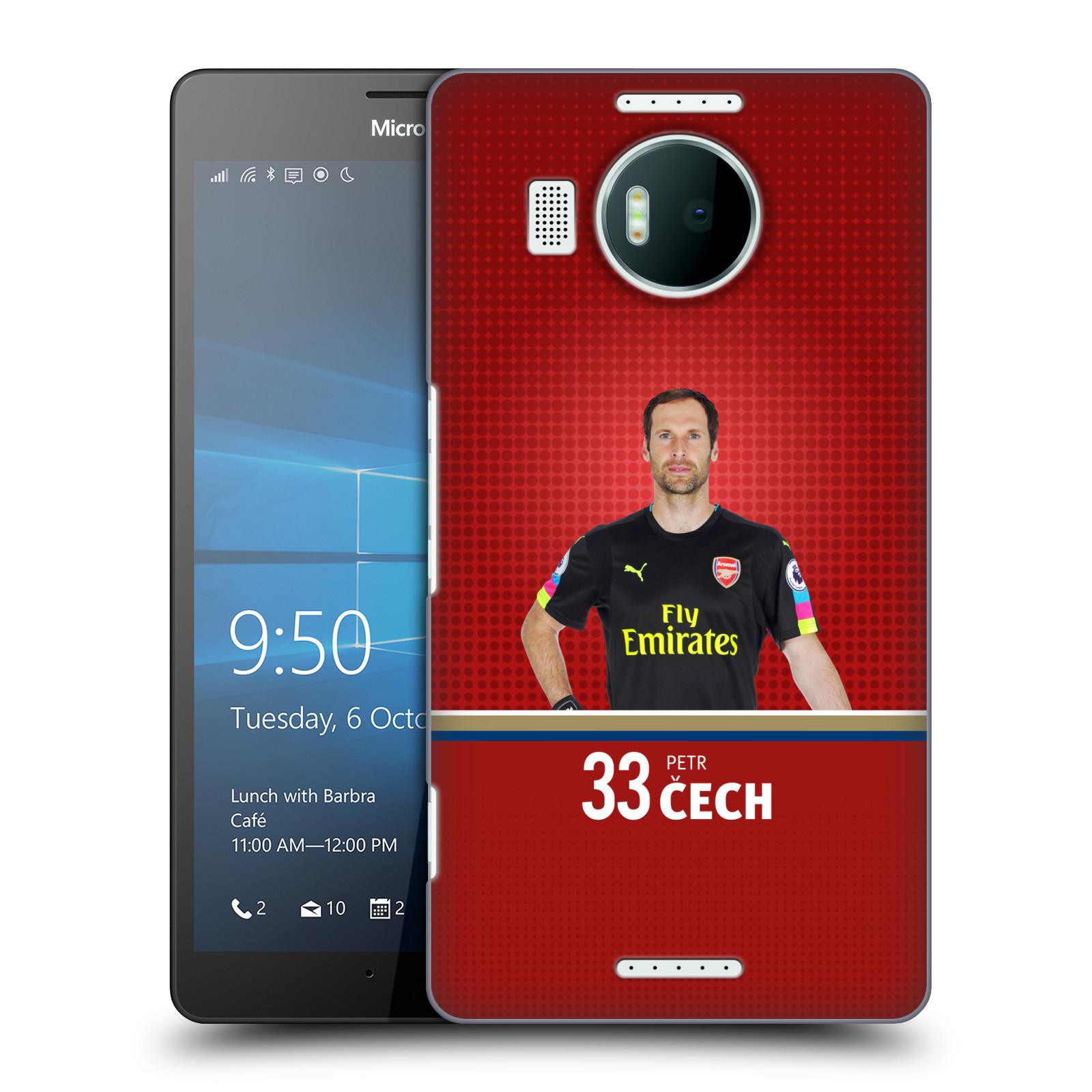 Plastové pouzdro na mobil Microsoft Lumia 950 XL - Head Case - Arsenal FC - Petr Čech