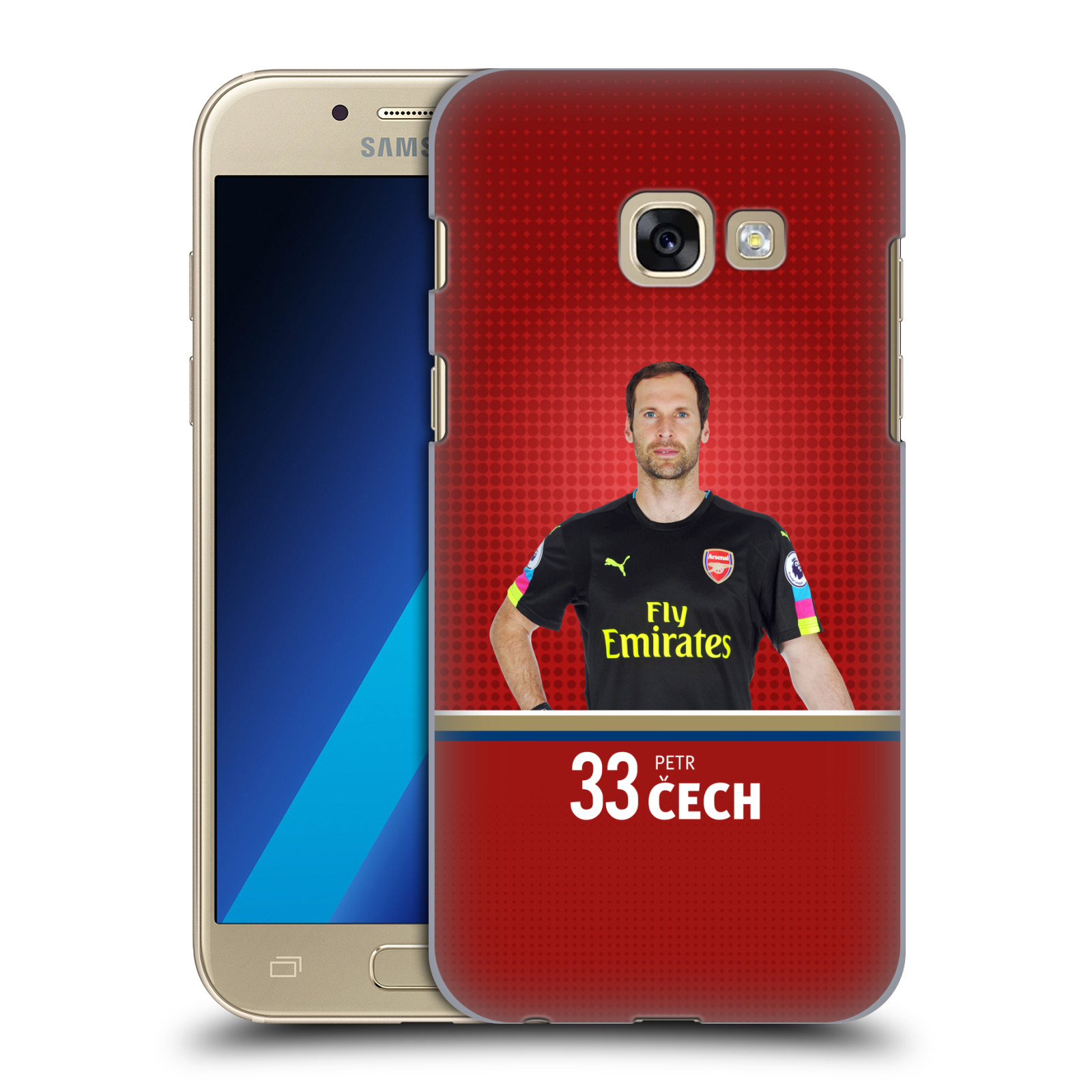 Plastové pouzdro na mobil Samsung Galaxy A3 (2017) - Head Case - Arsenal FC - Petr Čech