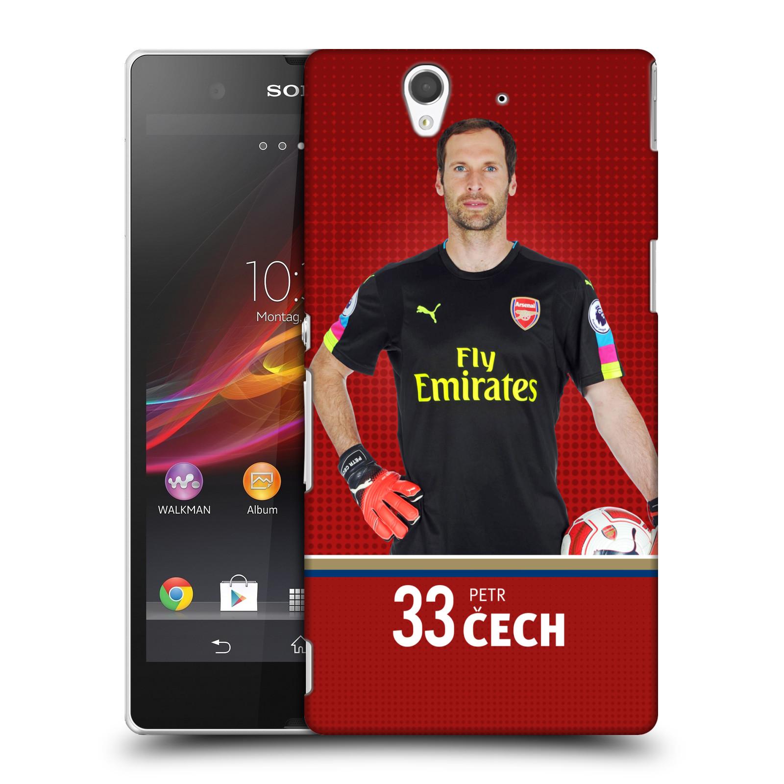Plastové pouzdro na mobil Sony Xperia Z C6603 - Head Case - Arsenal FC - Petr Čech