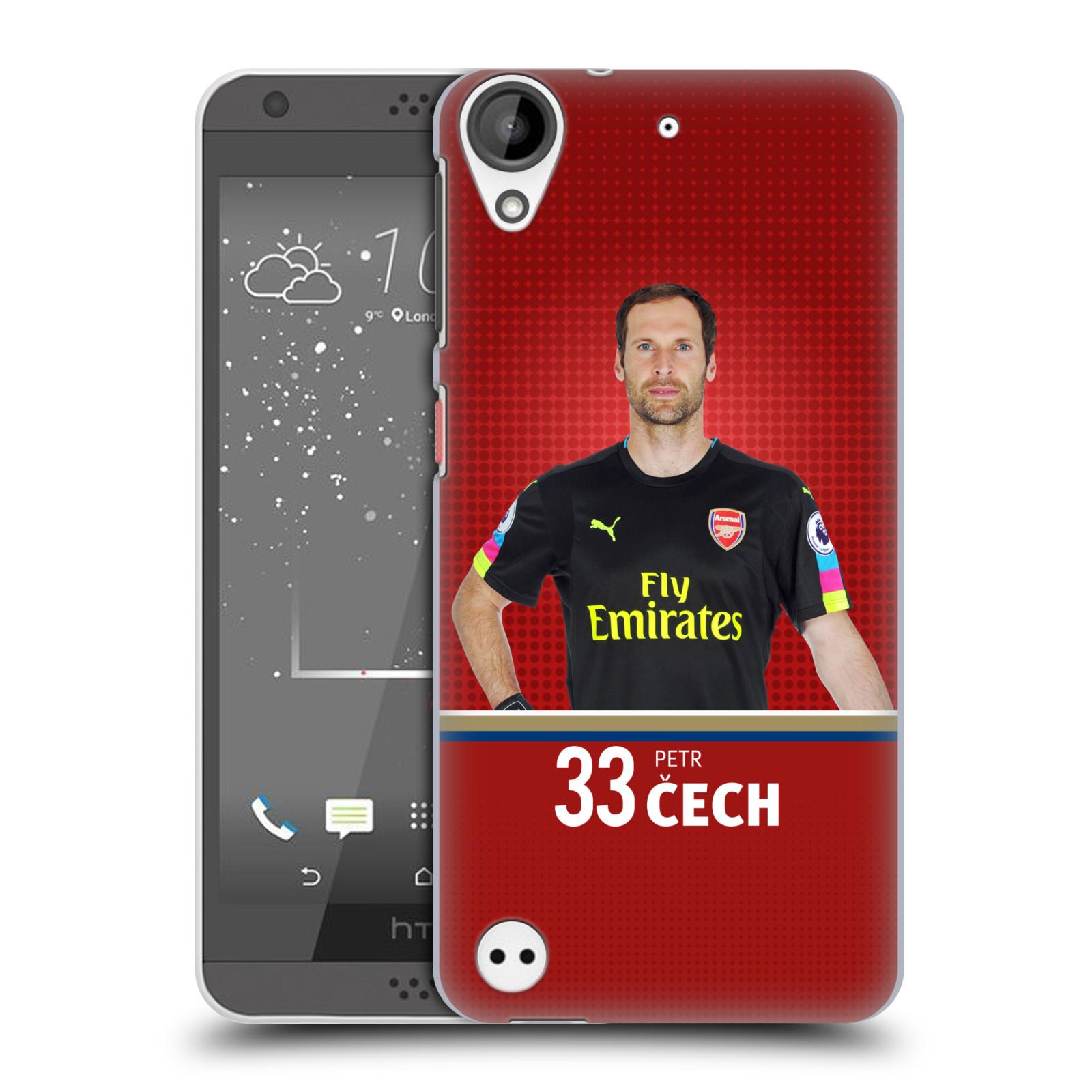 Plastové pouzdro na mobil HTC Desire 530 - Head Case - Arsenal FC - Petr Čech