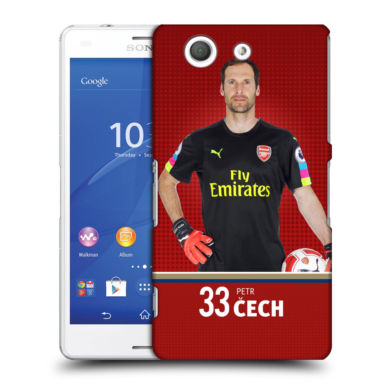 Plastové pouzdro na mobil Sony Xperia Z3 Compact D5803 - Head Case - Arsenal FC - Petr Čech