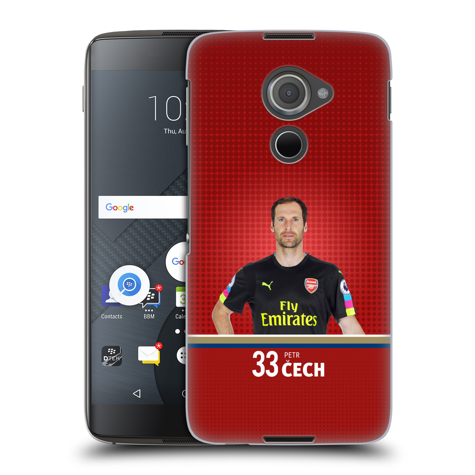 Plastové pouzdro na mobil Blackberry DTEK60 (Argon) - Head Case - Arsenal FC - Petr Čech