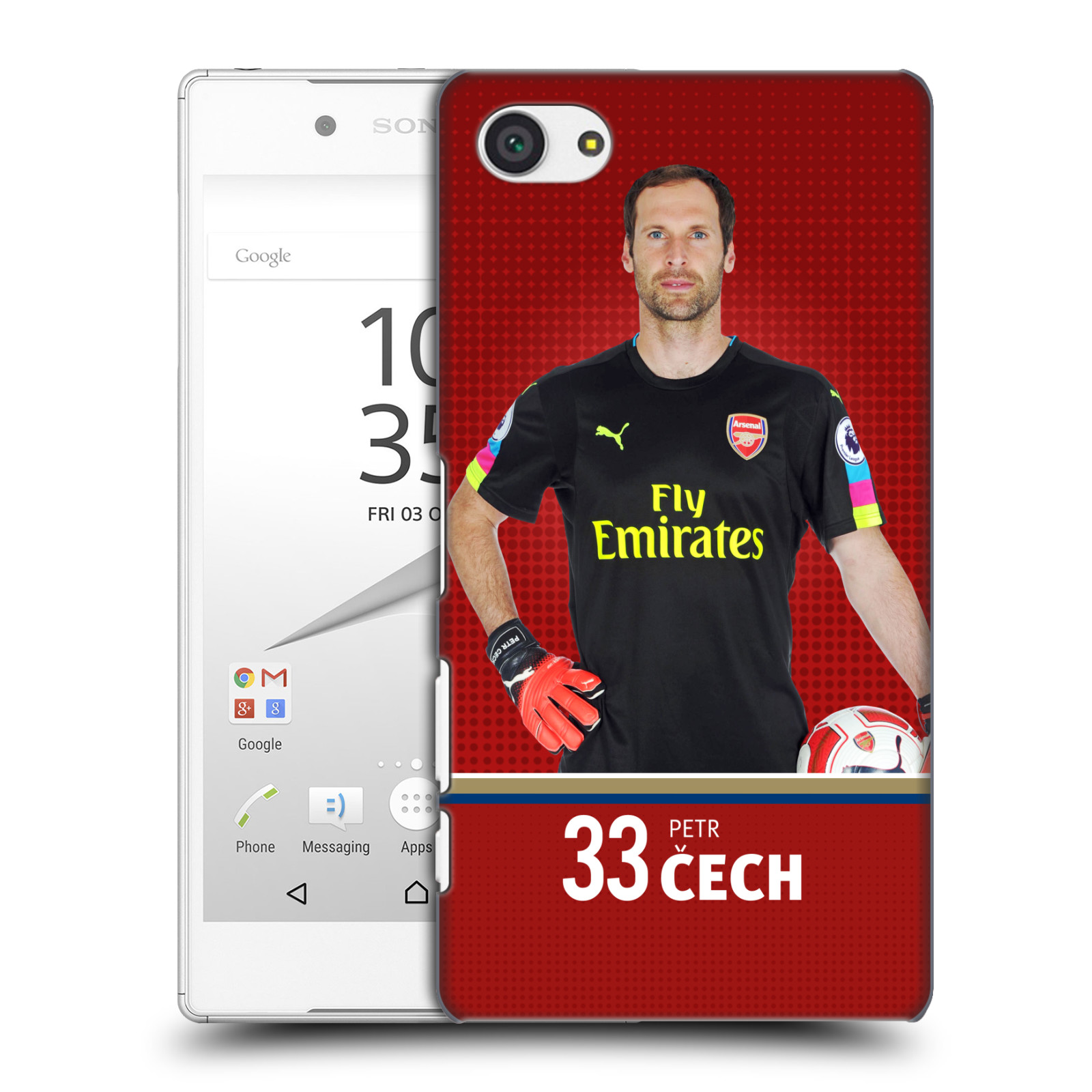 Plastové pouzdro na mobil Sony Xperia Z5 Compact - Head Case - Arsenal FC - Petr Čech