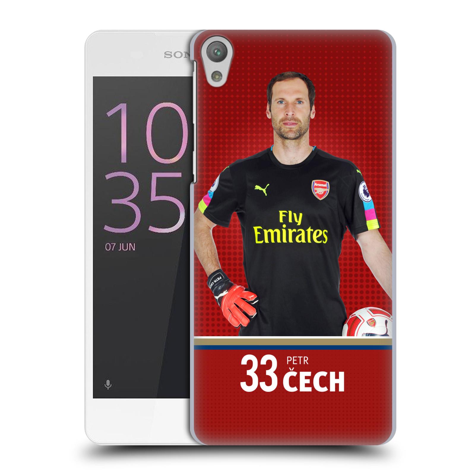 Plastové pouzdro na mobil Sony Xperia E5 - Head Case - Arsenal FC - Petr Čech