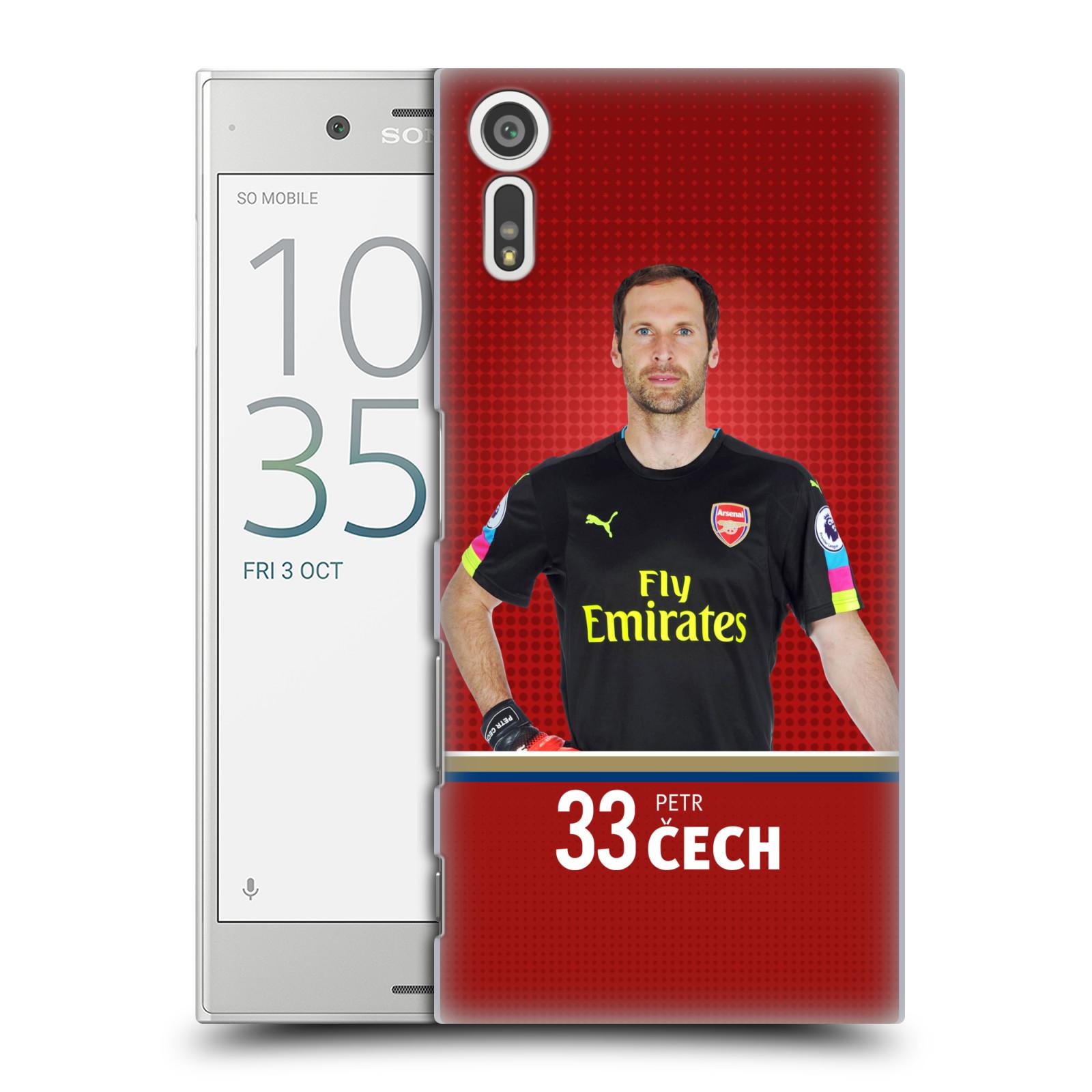 Plastové pouzdro na mobil Sony Xperia XZ - Head Case - Arsenal FC - Petr Čech