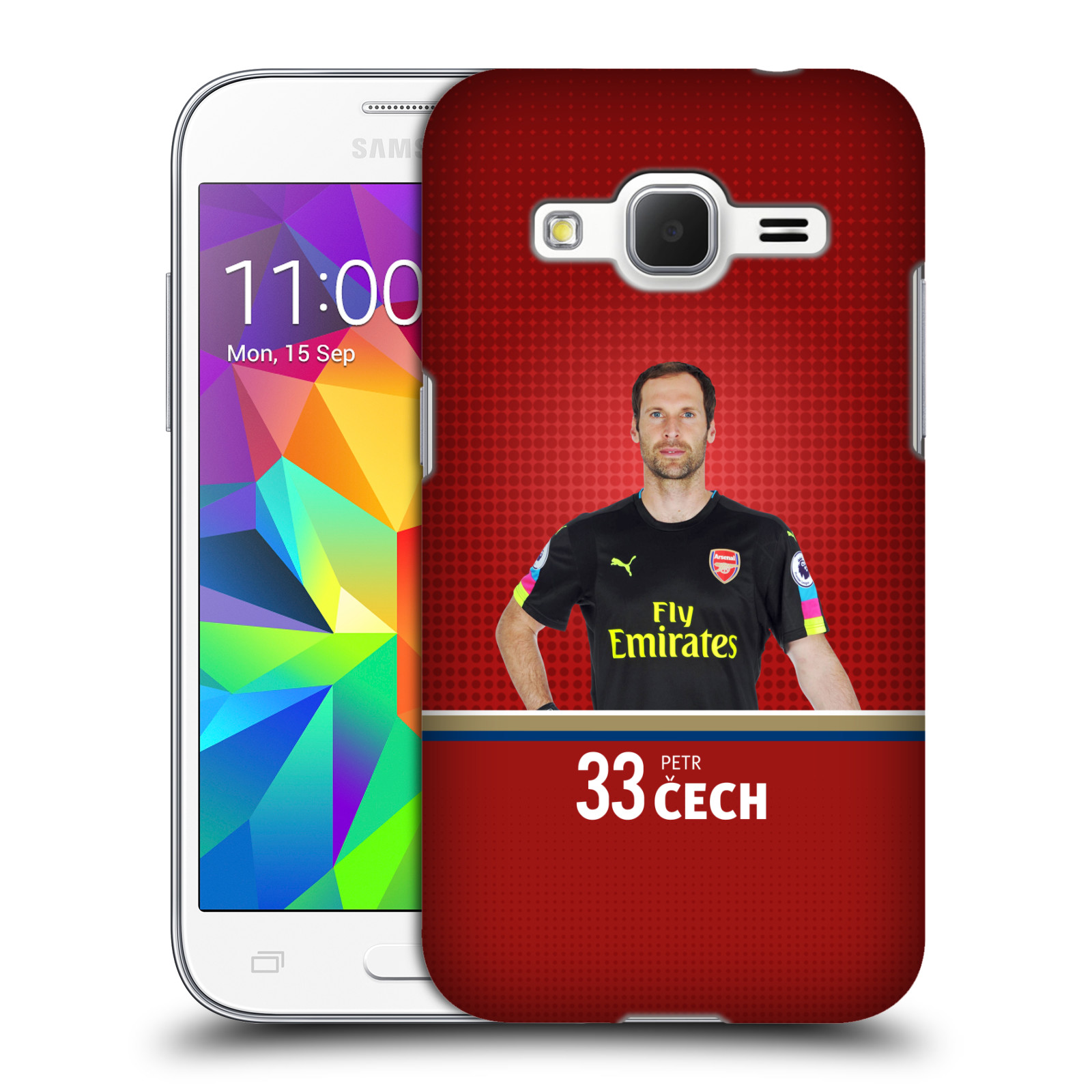 Plastové pouzdro na mobil Samsung Galaxy Core Prime LTE - Head Case - Arsenal FC - Petr Čech (Plastový kryt či obal na mobilní telefon s motivem klubu Arsenal FC - Petr Čech pro Samsung Galaxy Core Prime LTE SM-G360)