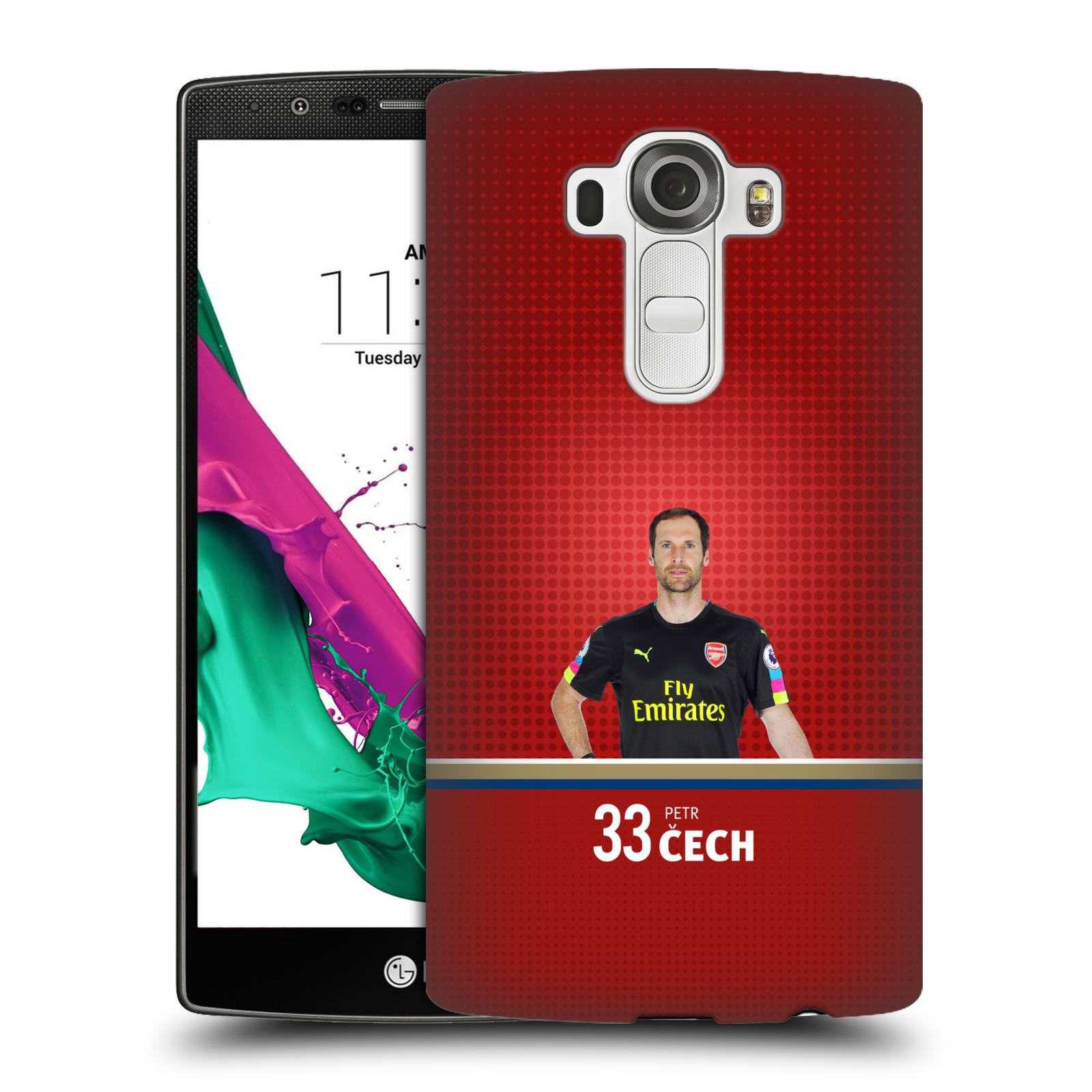 Plastové pouzdro na mobil LG G4 - Head Case - Arsenal FC - Petr Čech