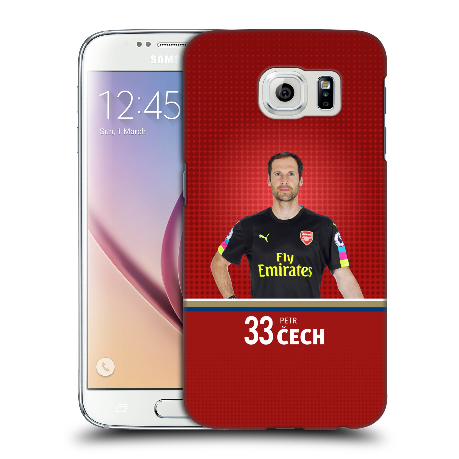 Plastové pouzdro na mobil Samsung Galaxy S6 - Head Case - Arsenal FC - Petr Čech