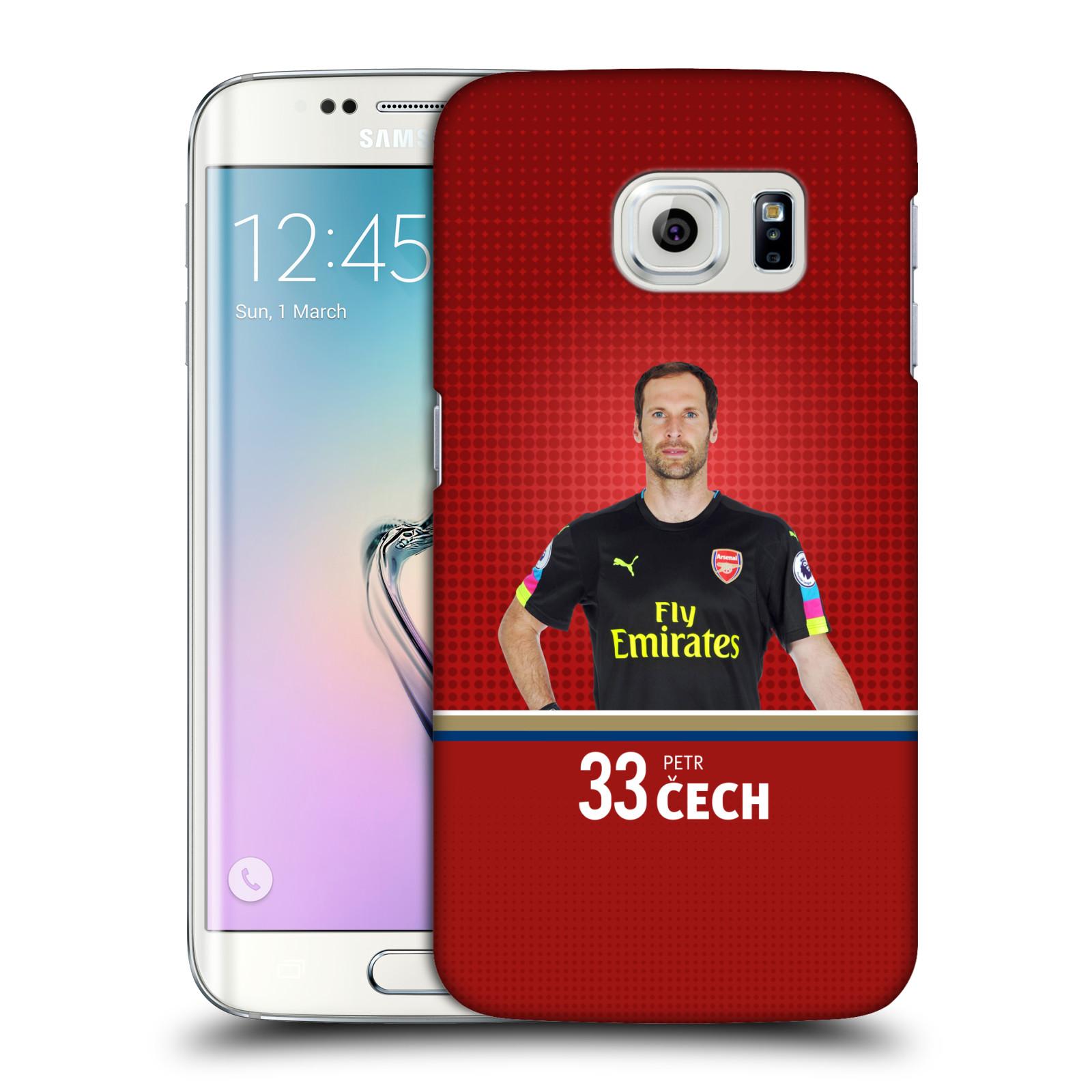 Plastové pouzdro na mobil Samsung Galaxy S6 Edge - Head Case - Arsenal FC - Petr Čech
