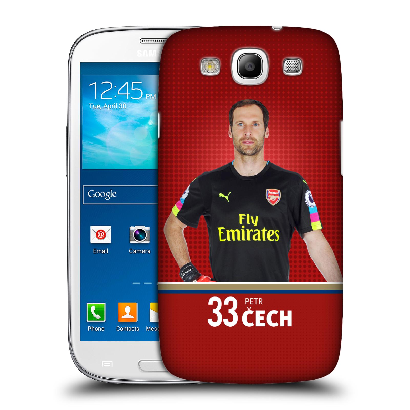 Plastové pouzdro na mobil Samsung Galaxy S III - Head Case - Arsenal FC - Petr Čech