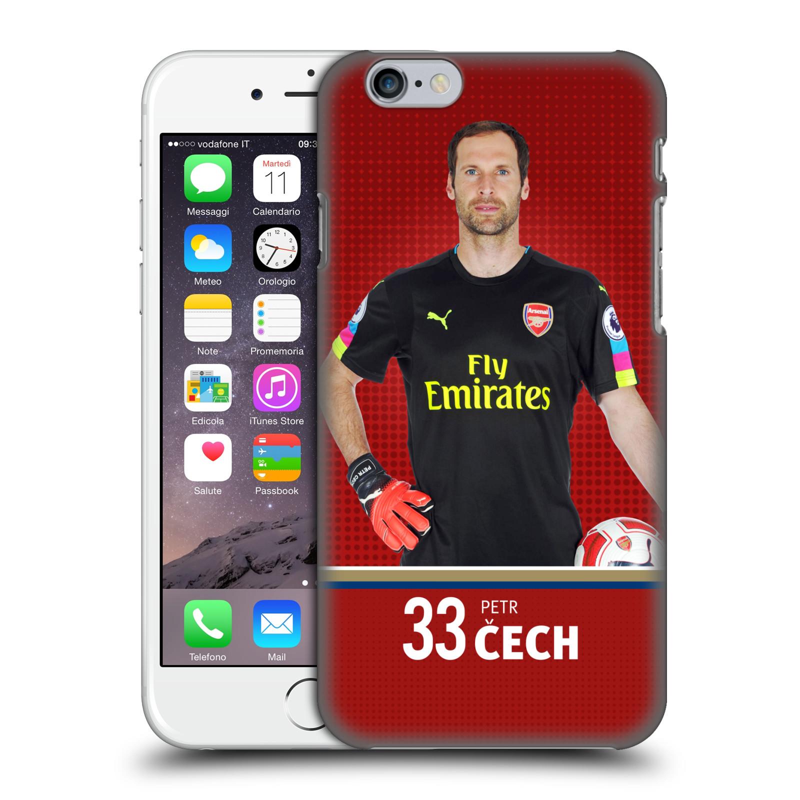 Plastové pouzdro na mobil Apple iPhone 6 - Head Case - Arsenal FC - Petr Čech