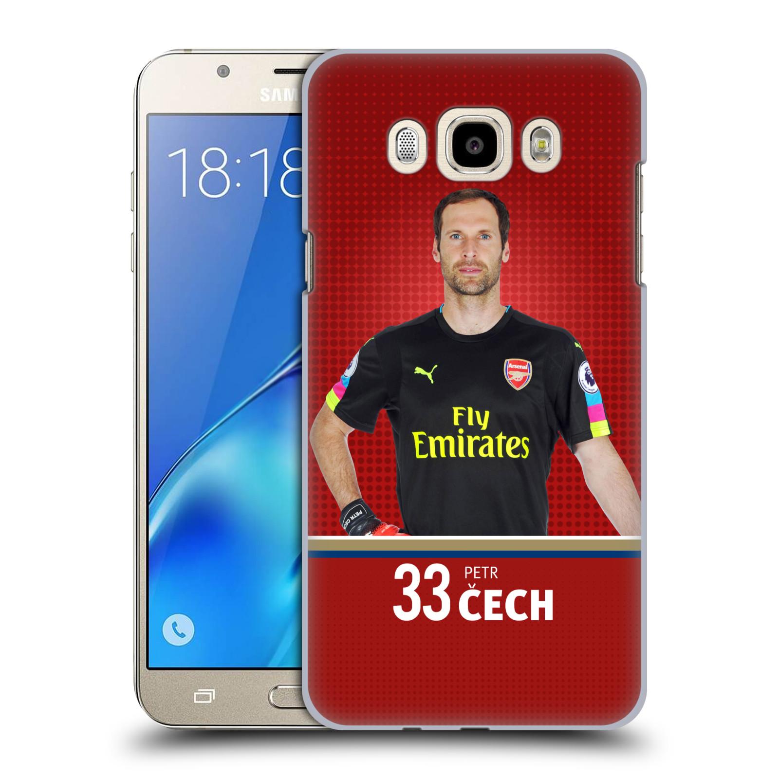 Plastové pouzdro na mobil Samsung Galaxy J7 (2016) - Head Case - Arsenal FC - Petr Čech