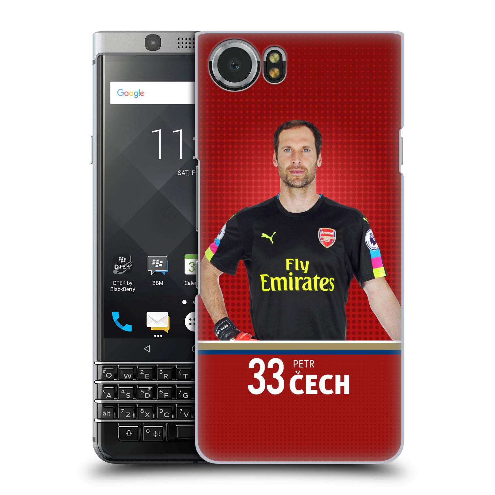 Plastové pouzdro na mobil BlackBerry KEYone - Head Case - Arsenal FC - Petr Čech